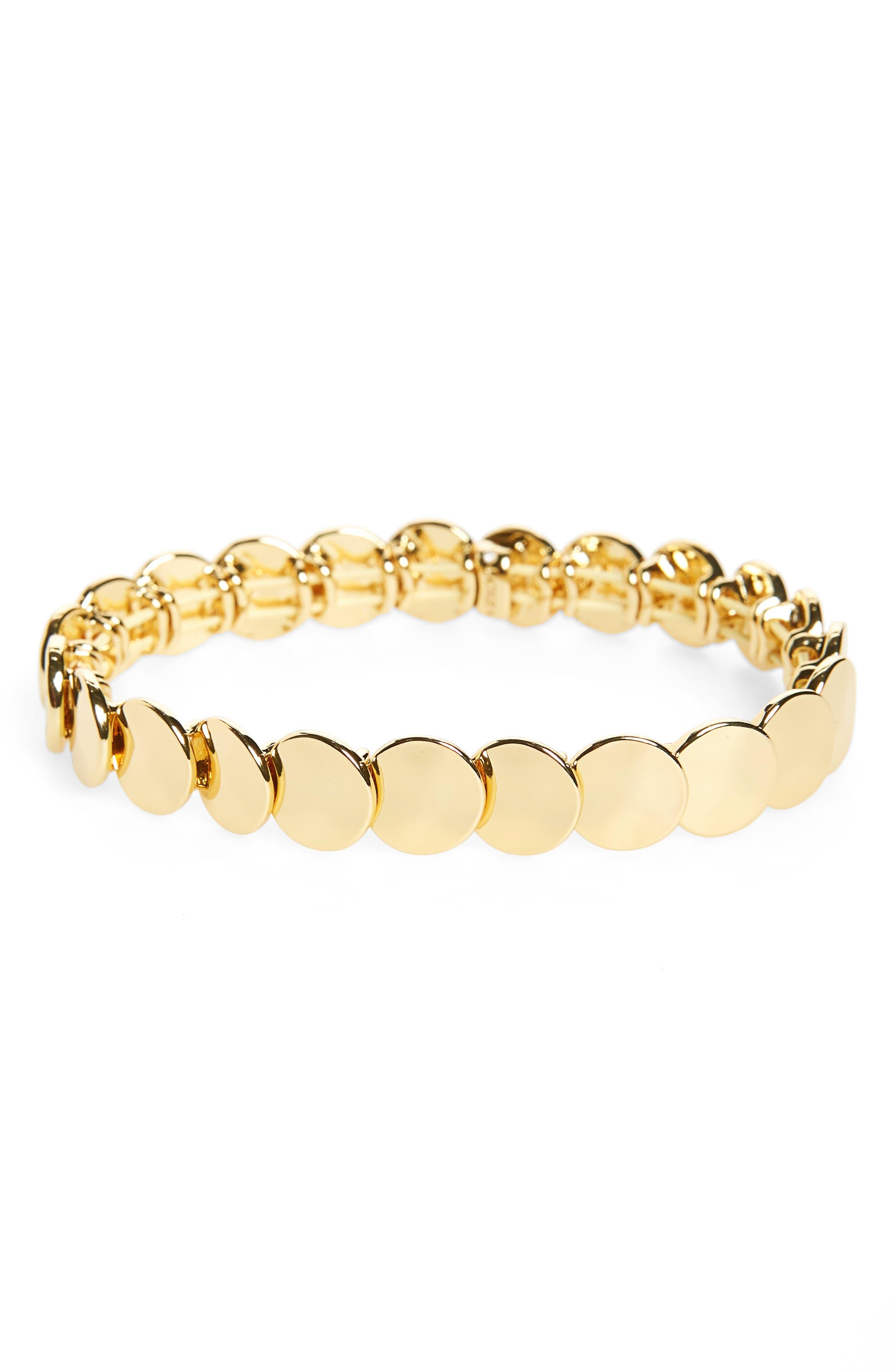 Polka Bracelet,                             Alternate thumbnail 2, color,                             Burnished Gold