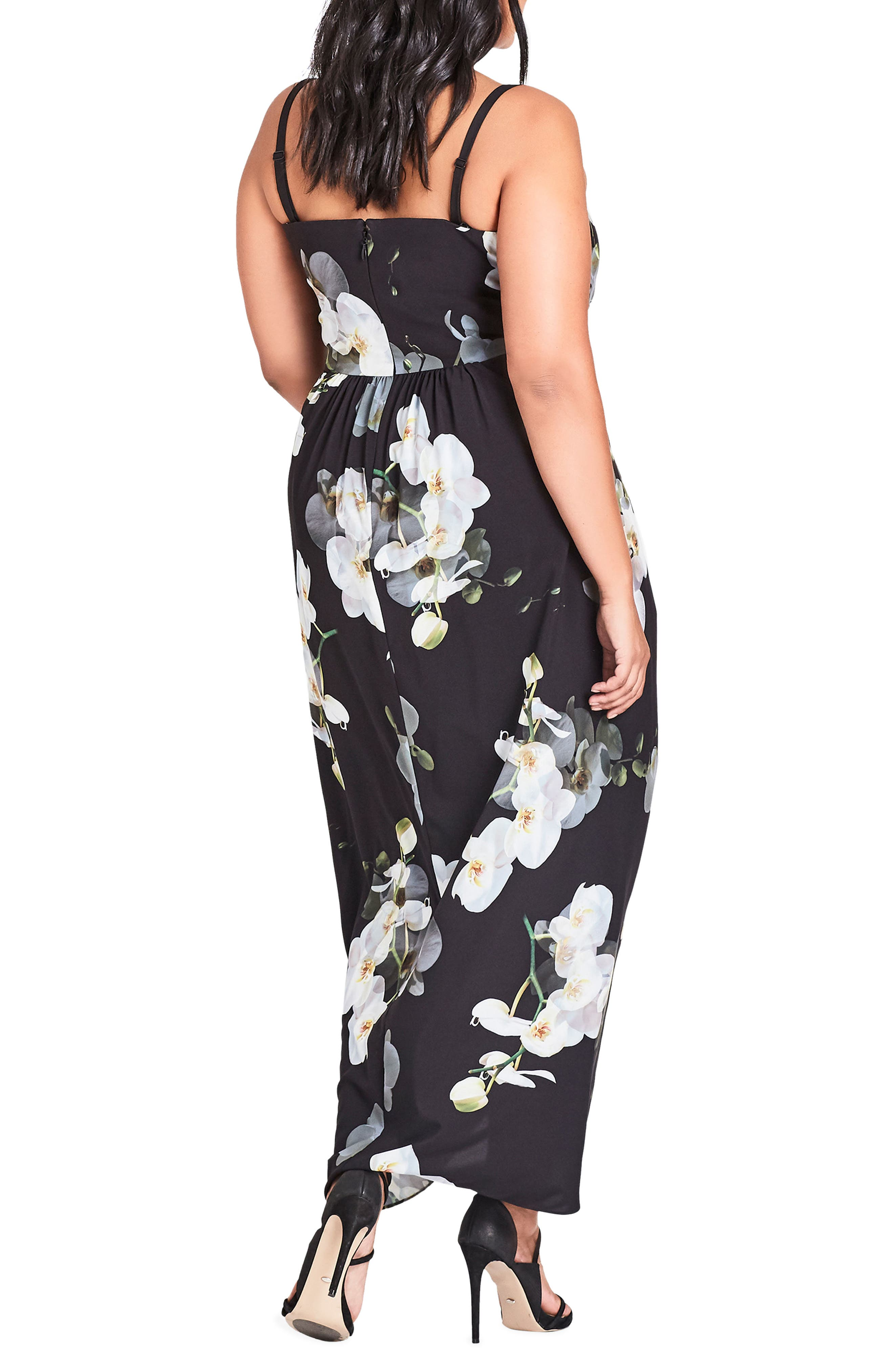 Orchid Dreams Strapless Maxi Dress,                             Alternate thumbnail 2, color,                             Orchid Dreams