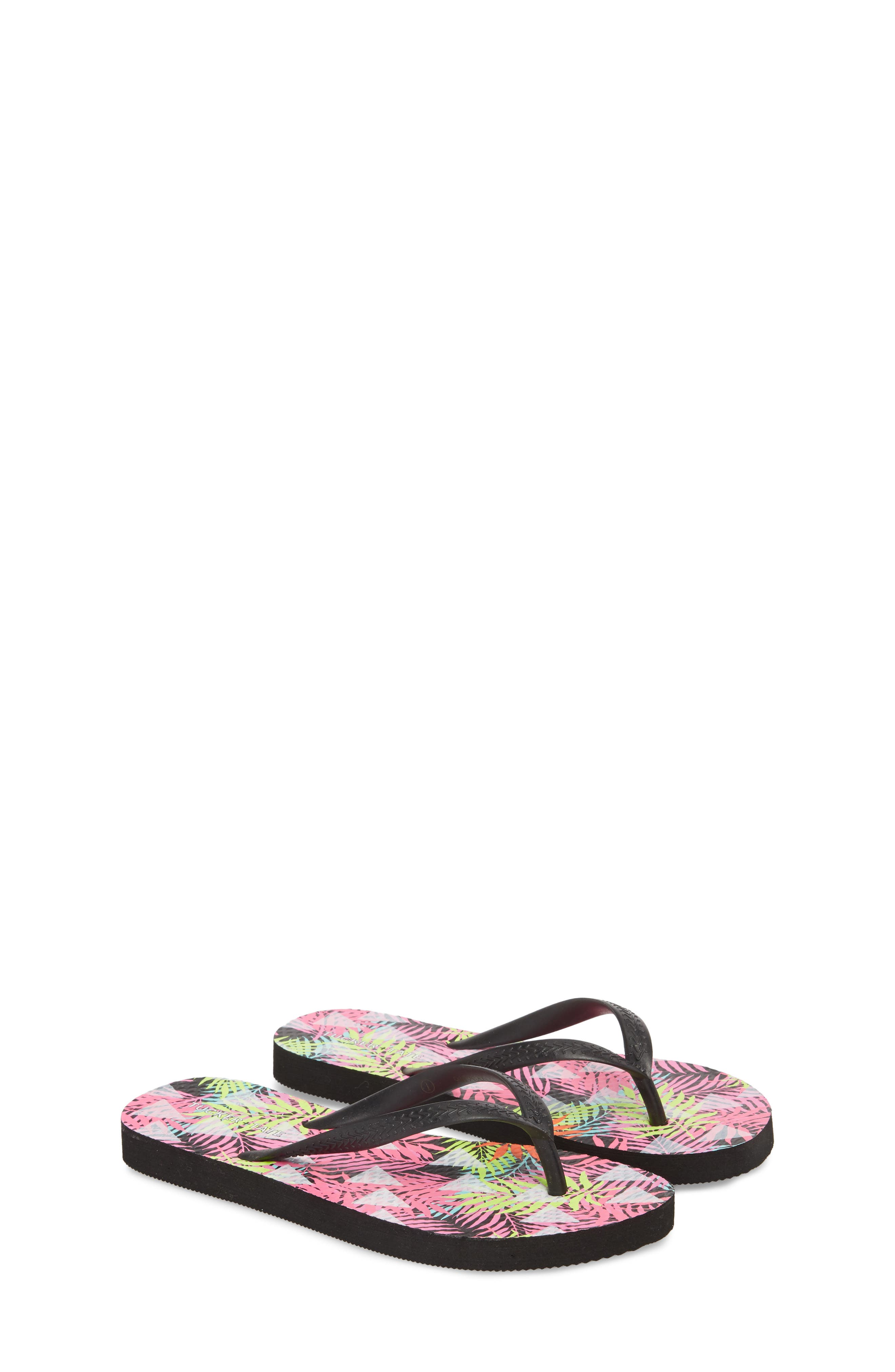 'Clementyne' Flip Flop,                             Alternate thumbnail 3, color,                             Black