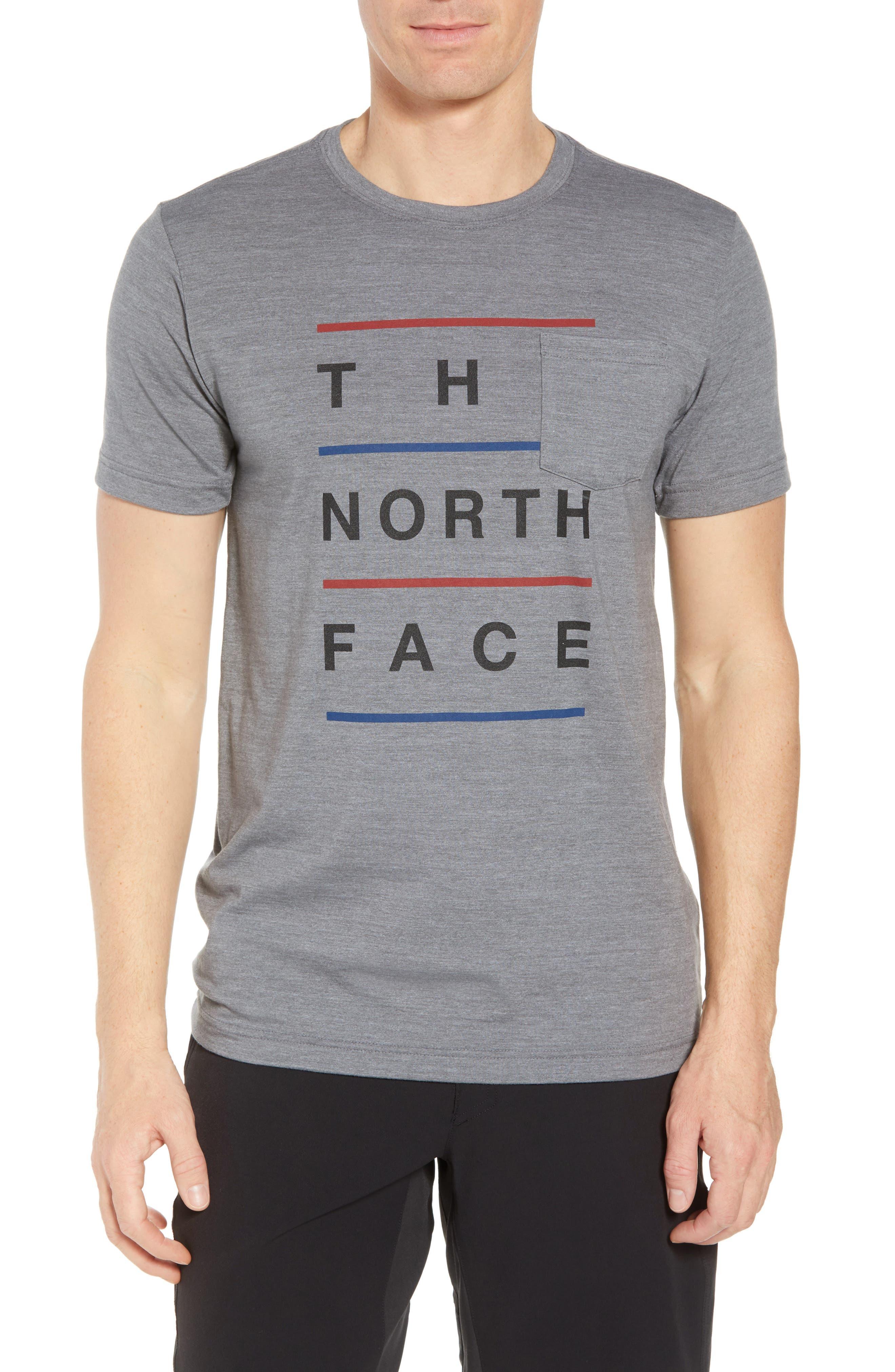 Americana Crewneck T-Shirt,                             Main thumbnail 1, color,                             Tnf Medium Grey Heather