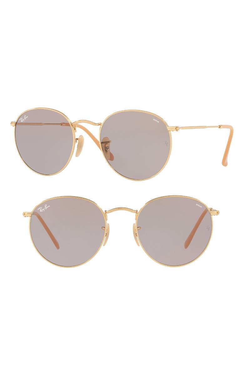 c12faac0c Ray Ban Ray-Ban Unisex Evolve Polarized Round Sunglasses, 53Mm In Grey