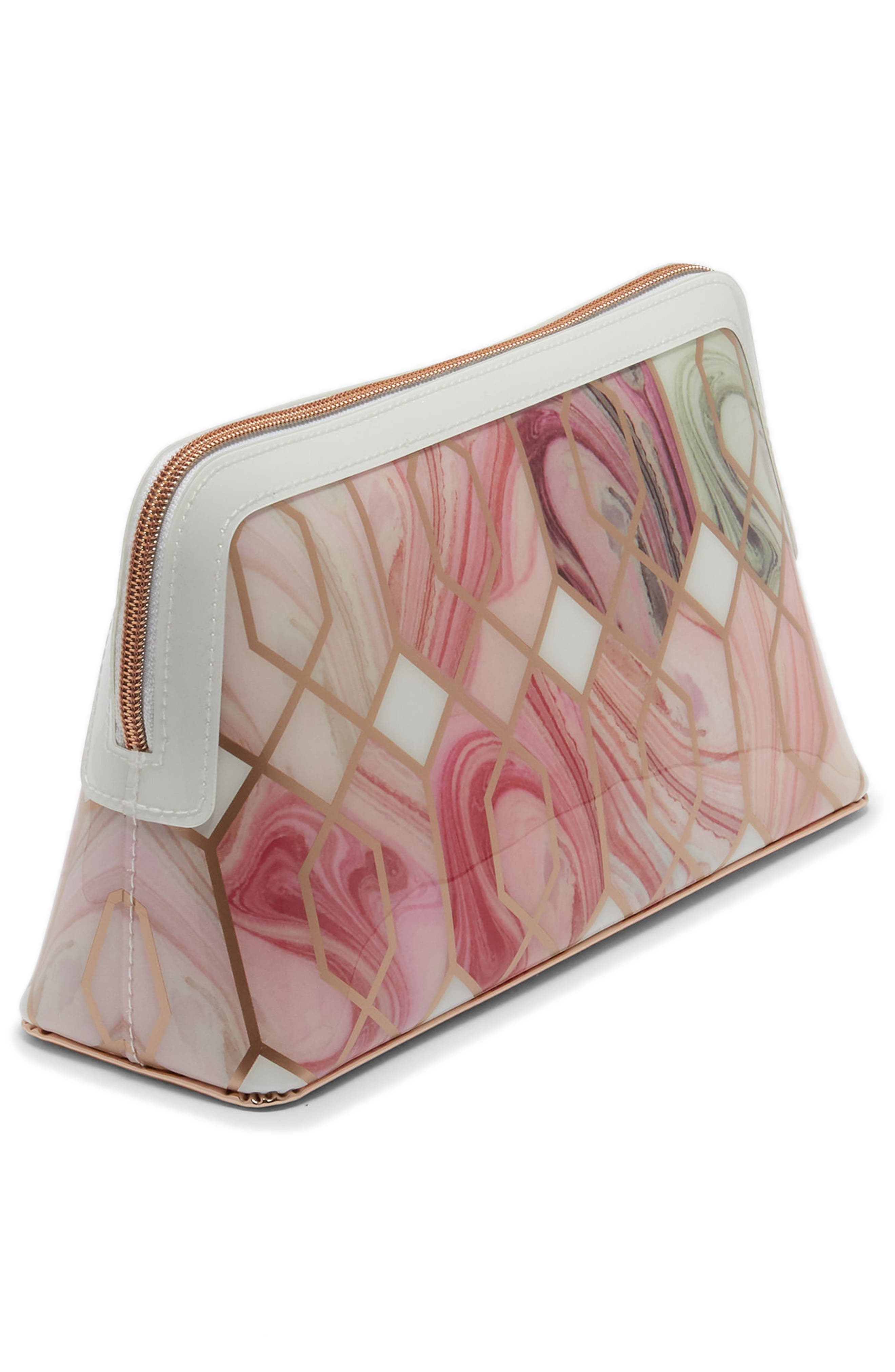 Elliee – Sea of Clouds Wash Bag,                             Alternate thumbnail 3, color,                             White