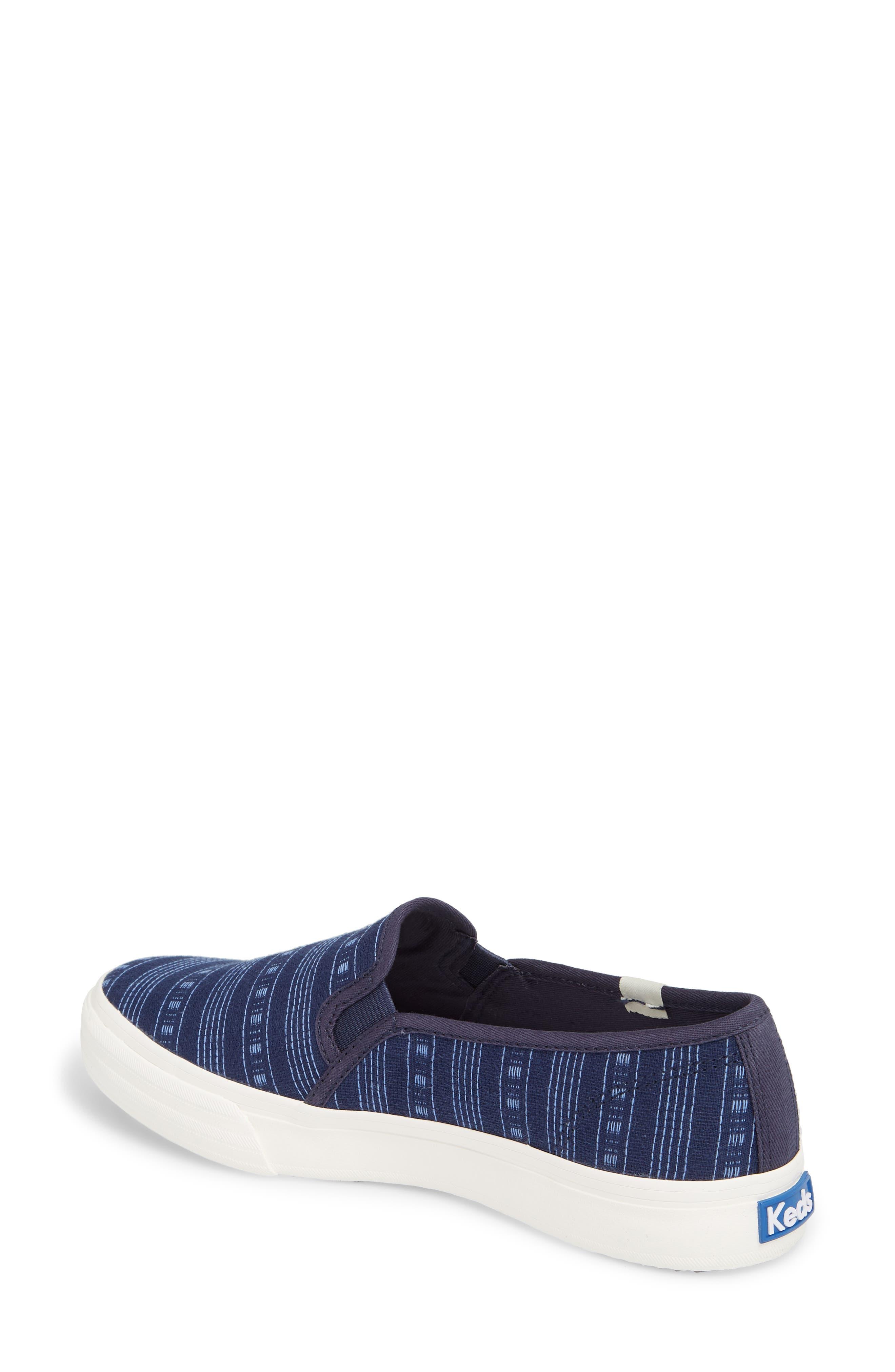 Alternate Image 2  - Keds® Double Decker Summer Stripe Slip-On Sneaker (Women)