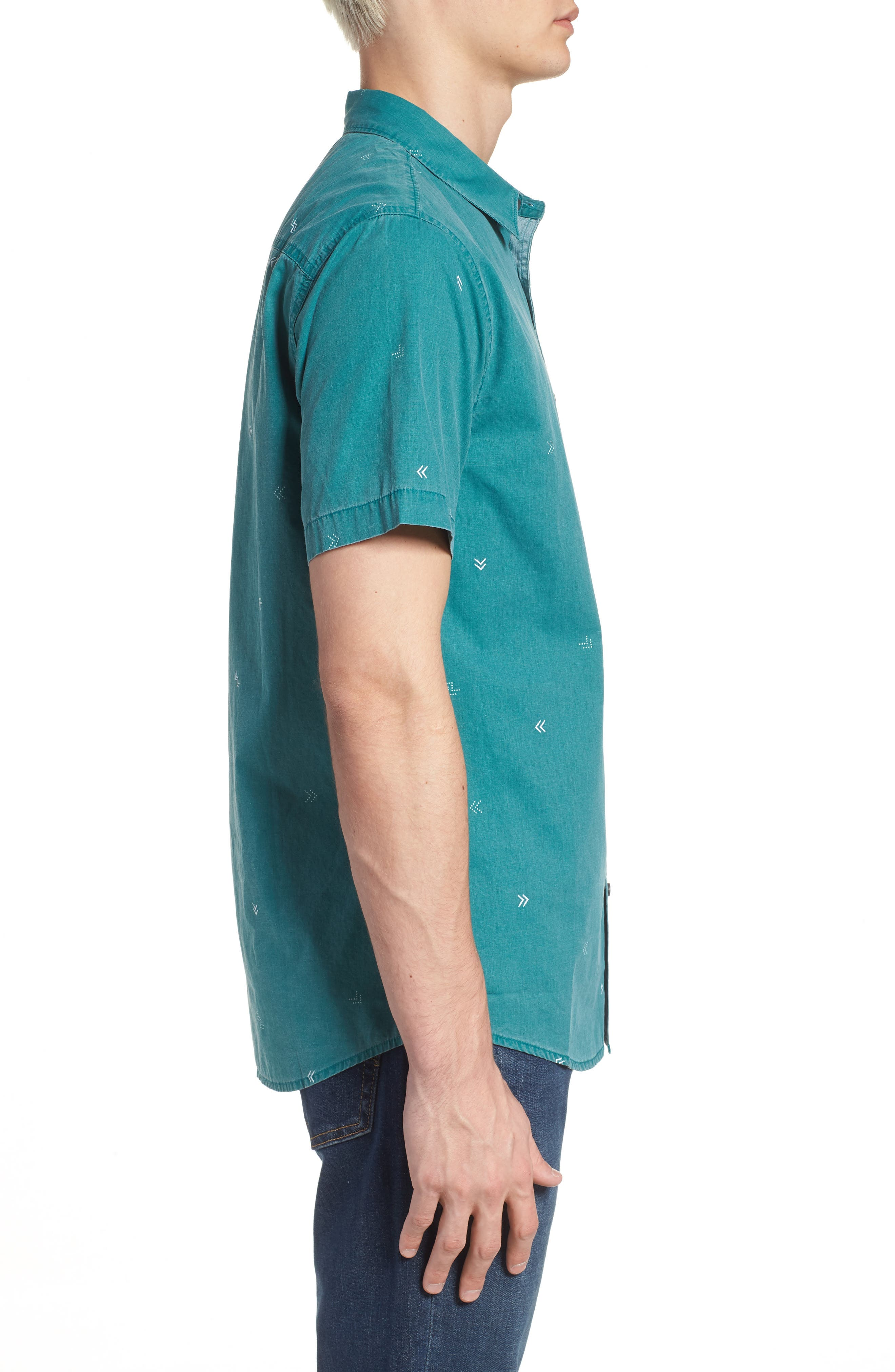 Kruger Woven Shirt,                             Alternate thumbnail 4, color,                             Jade