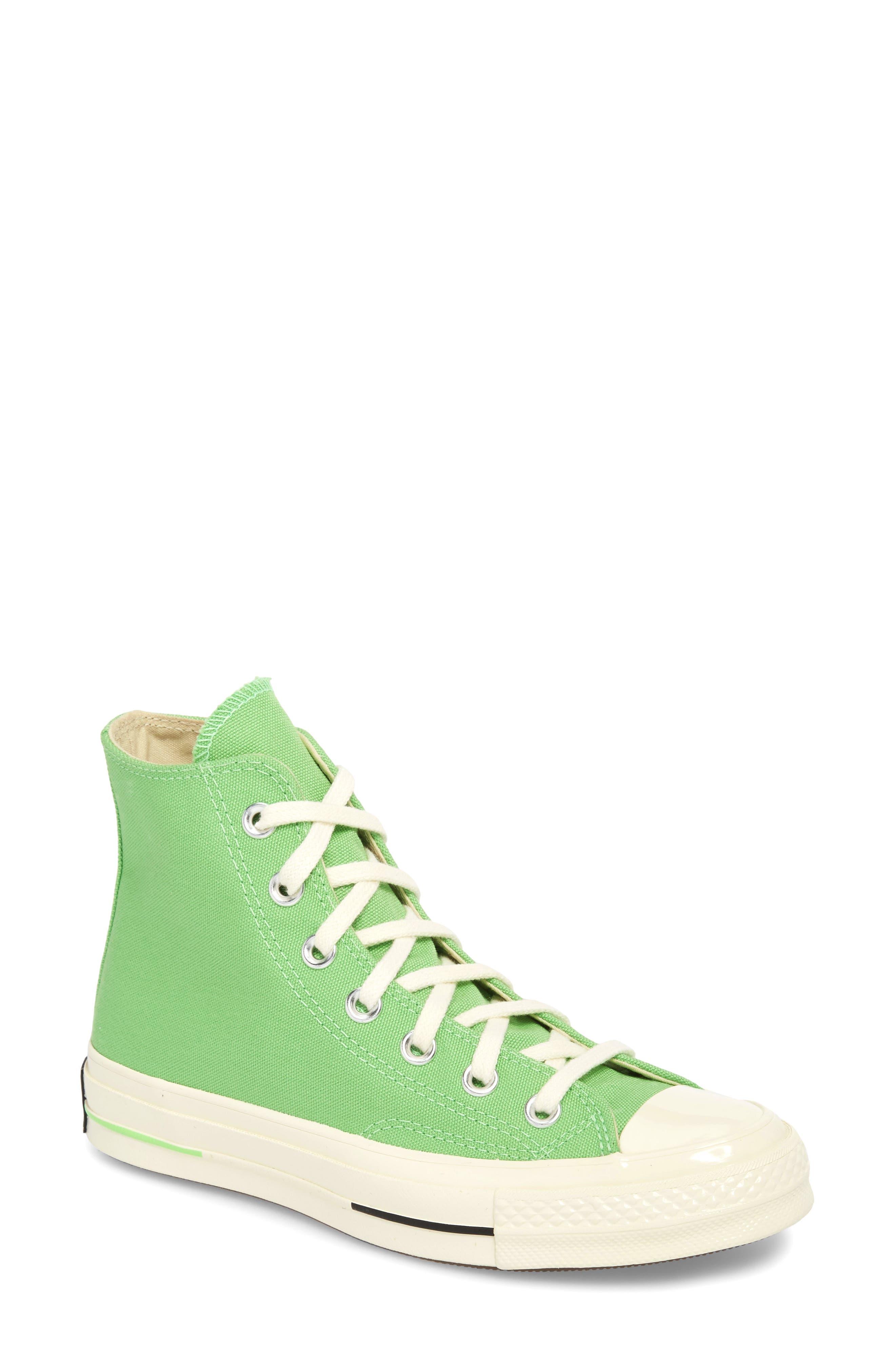 Chuck Taylor<sup>®</sup> All Star<sup>®</sup> 70 Brights High Top Sneaker,                             Main thumbnail 1, color,                             Illusion Green