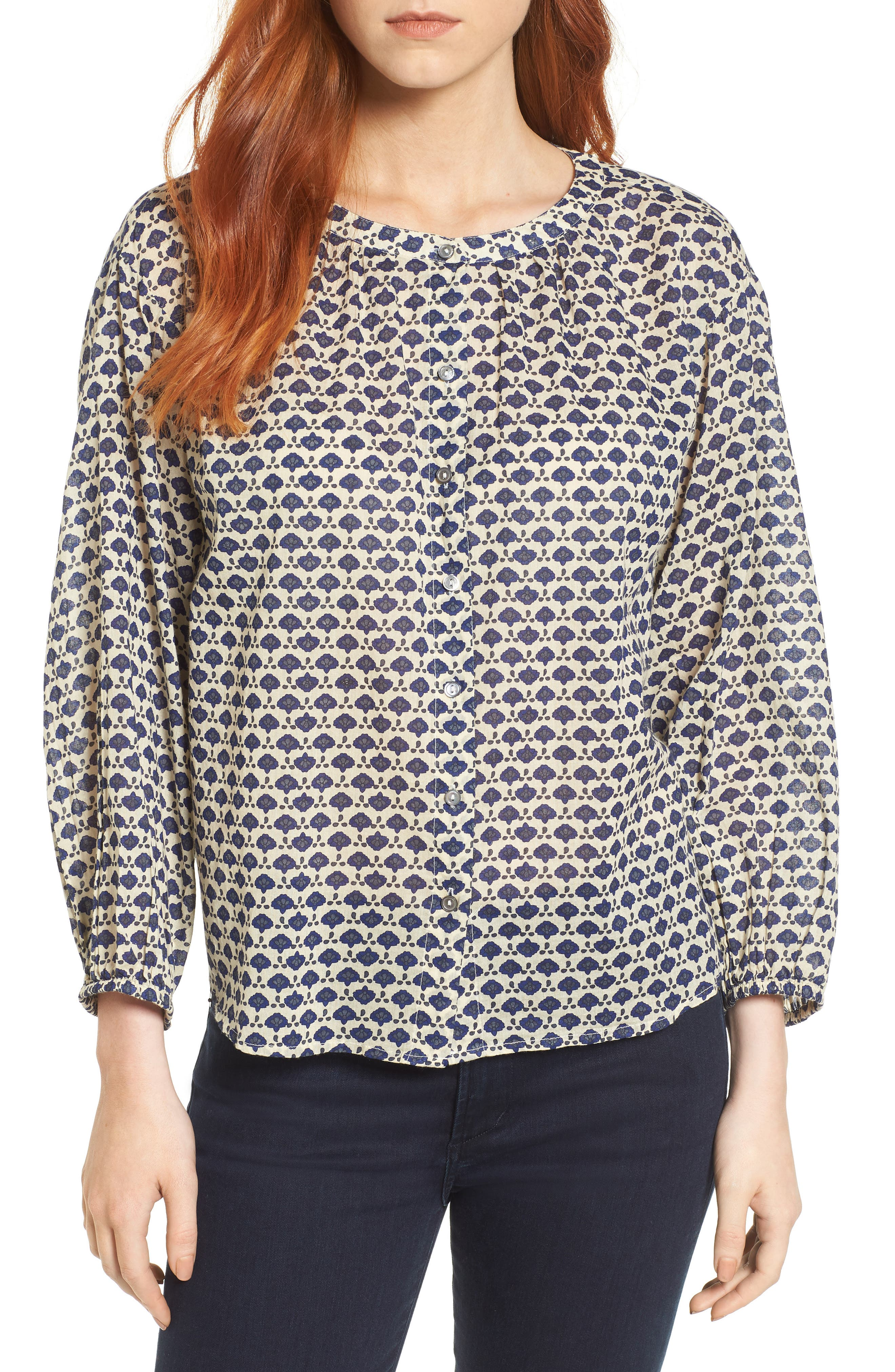 Velvet by Graham & Spencer Printed Cotton Voile Top