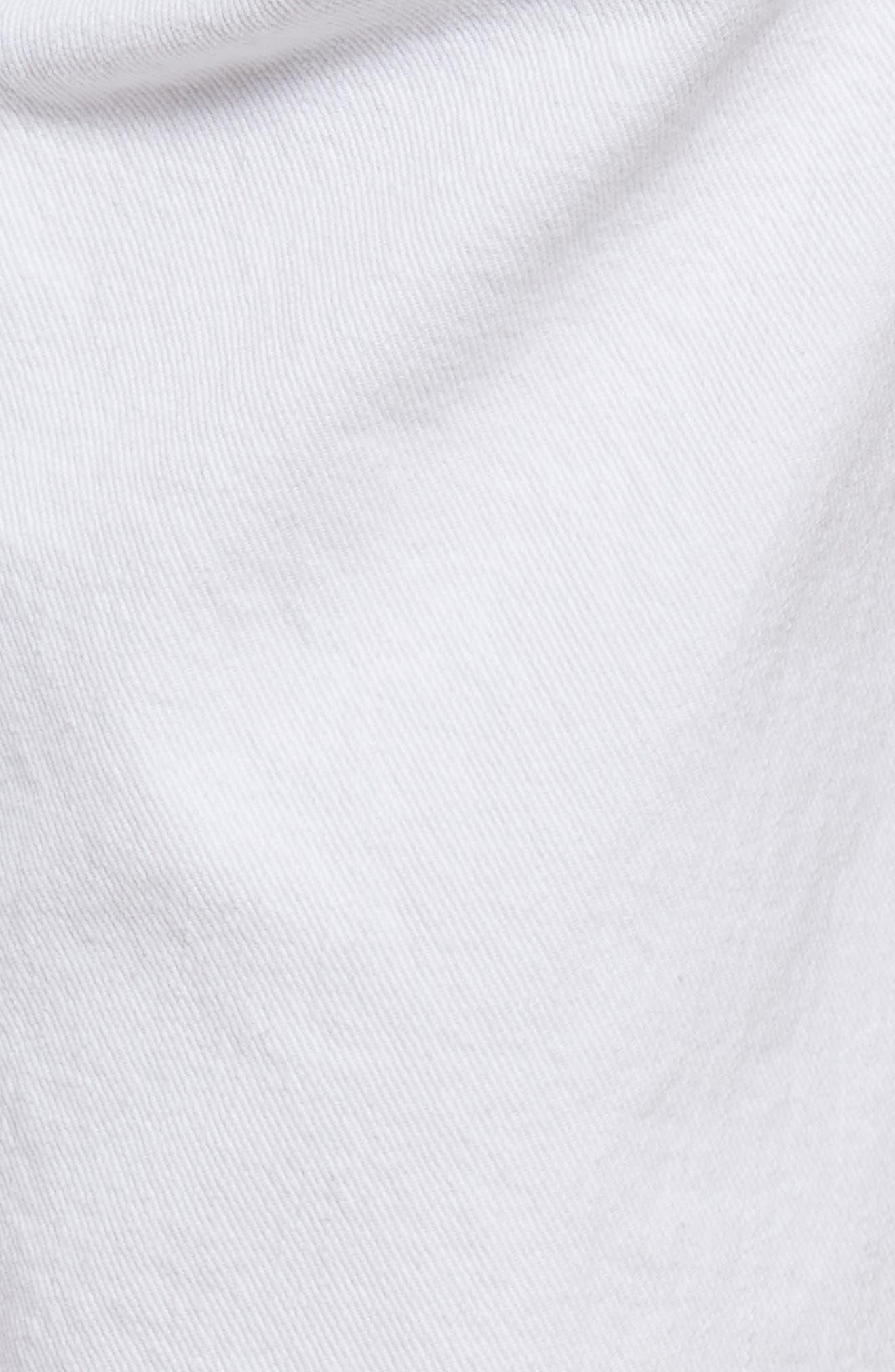 Alternate Image 5  - 7 For All Mankind® Distressed High Waist Straight Leg Bermuda Shorts (White Fashion 4)
