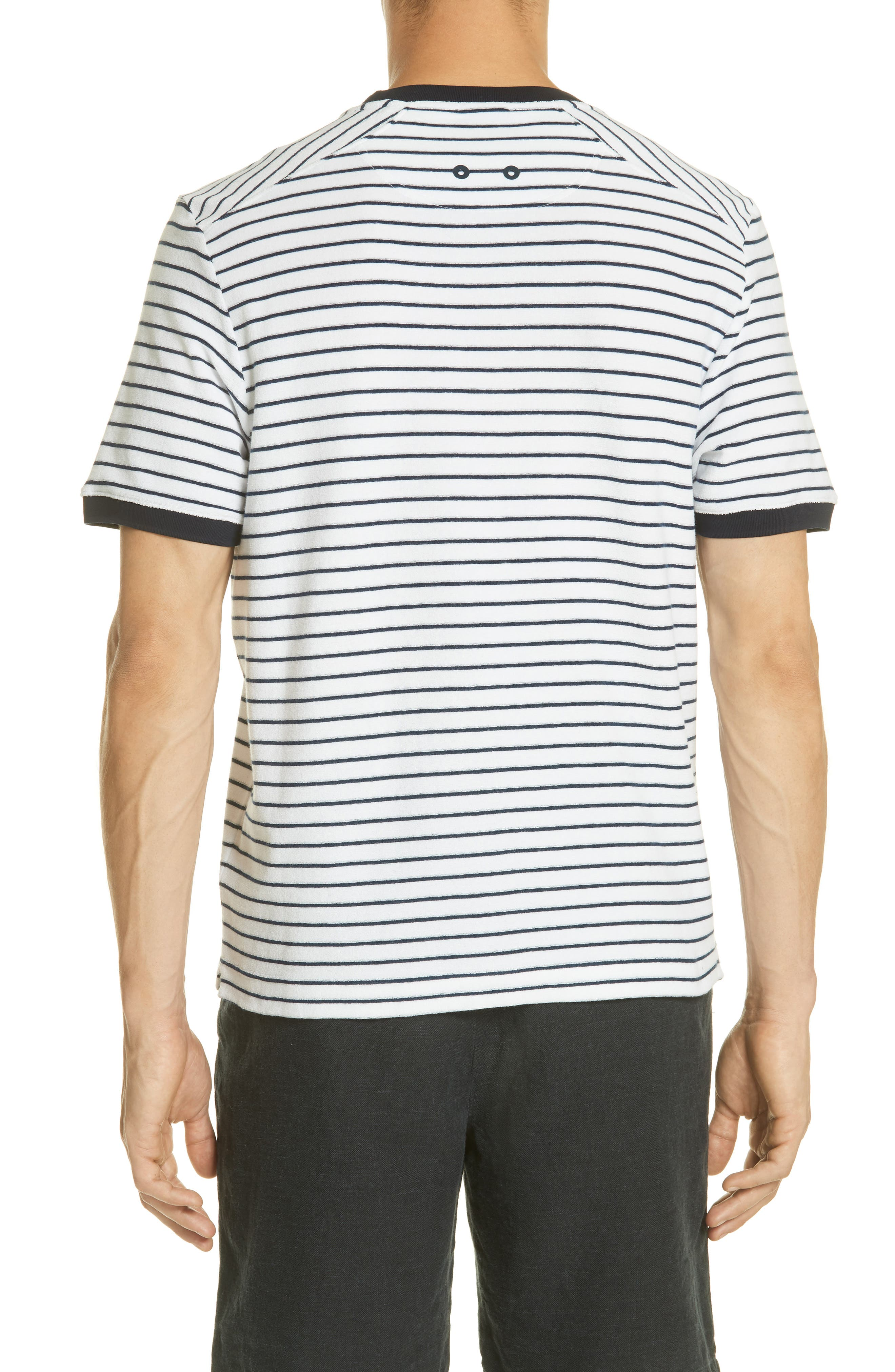 Stripe Terry T-Shirt,                             Alternate thumbnail 2, color,                             Squid Ink / Canvas