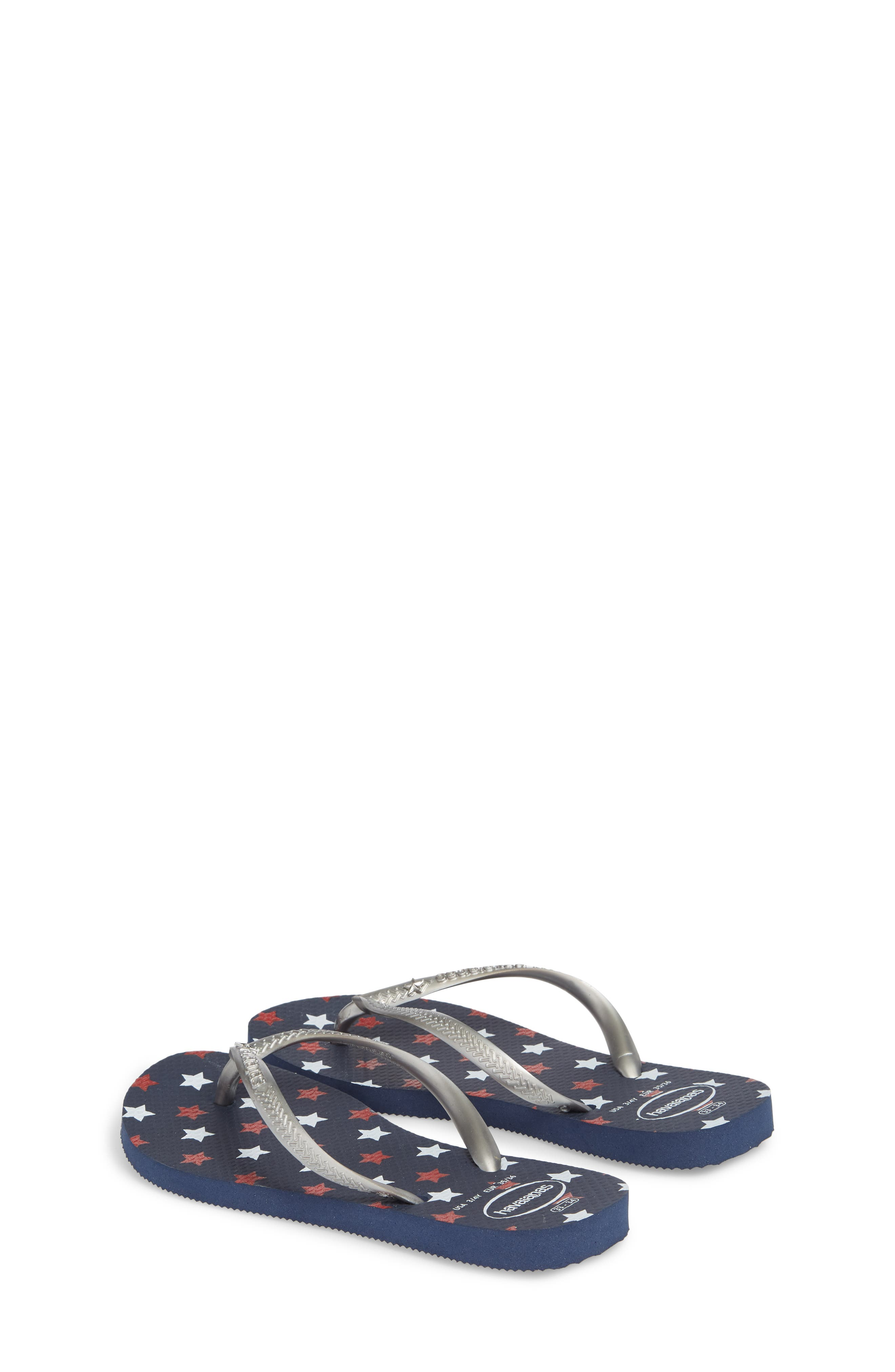 Havianas Slim Stars Glitter Flip Flop,                             Alternate thumbnail 2, color,                             Navy Blue