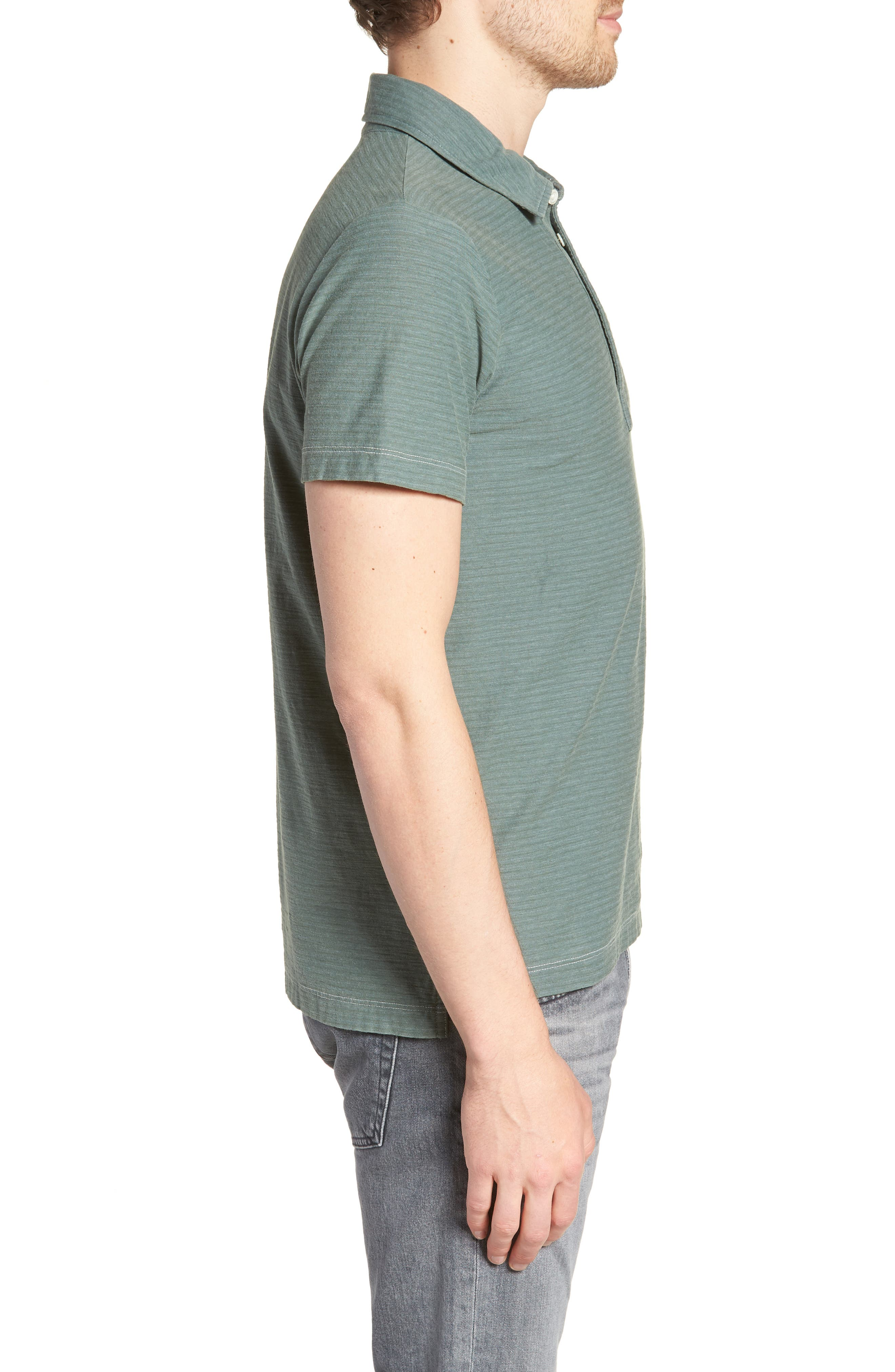 Pensacola Cotton Blend Polo Shirt,                             Alternate thumbnail 3, color,                             Sage