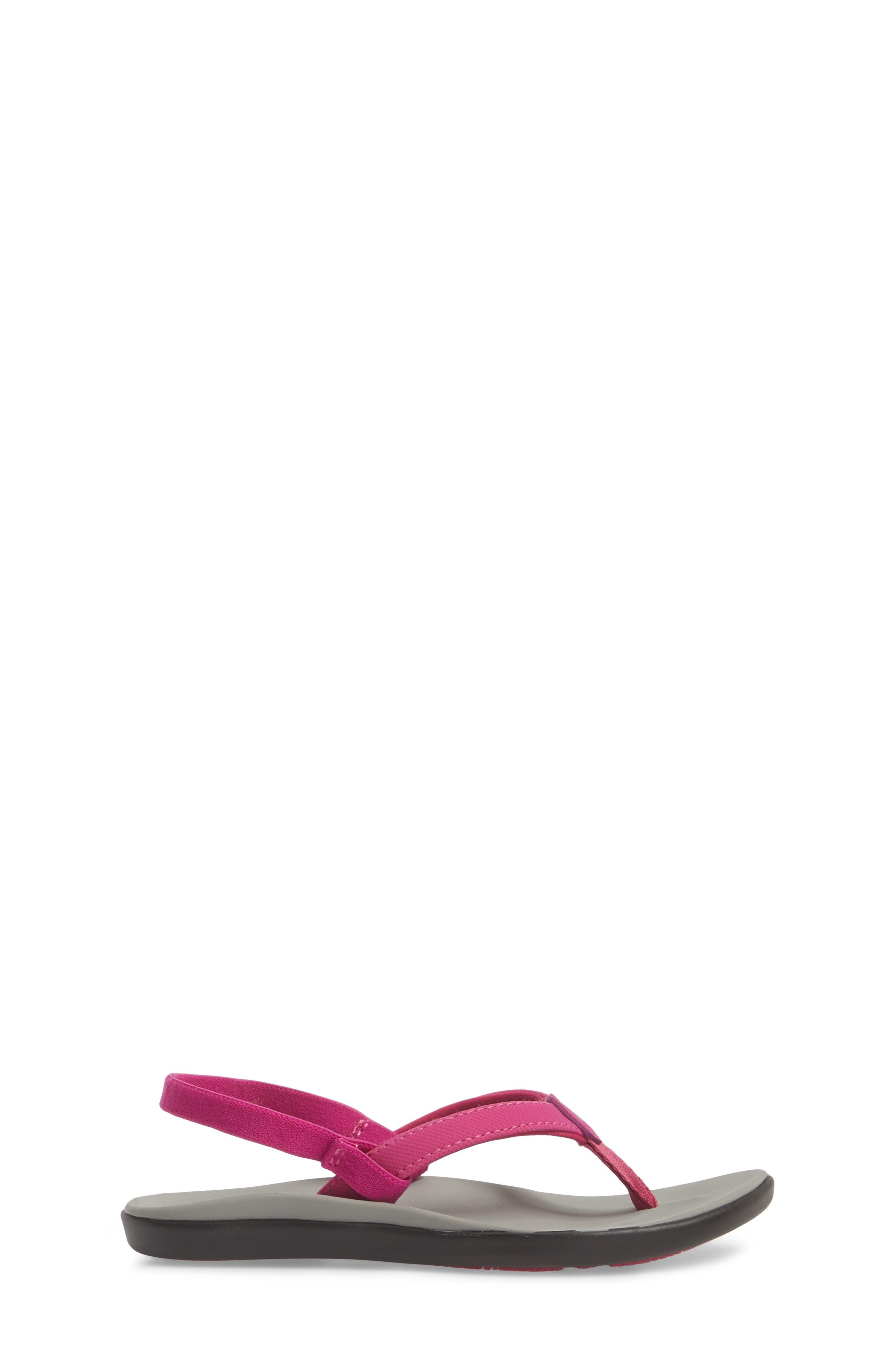 Ho'opio Sandal,                             Alternate thumbnail 3, color,                             Grape Juice/ Pale Grey