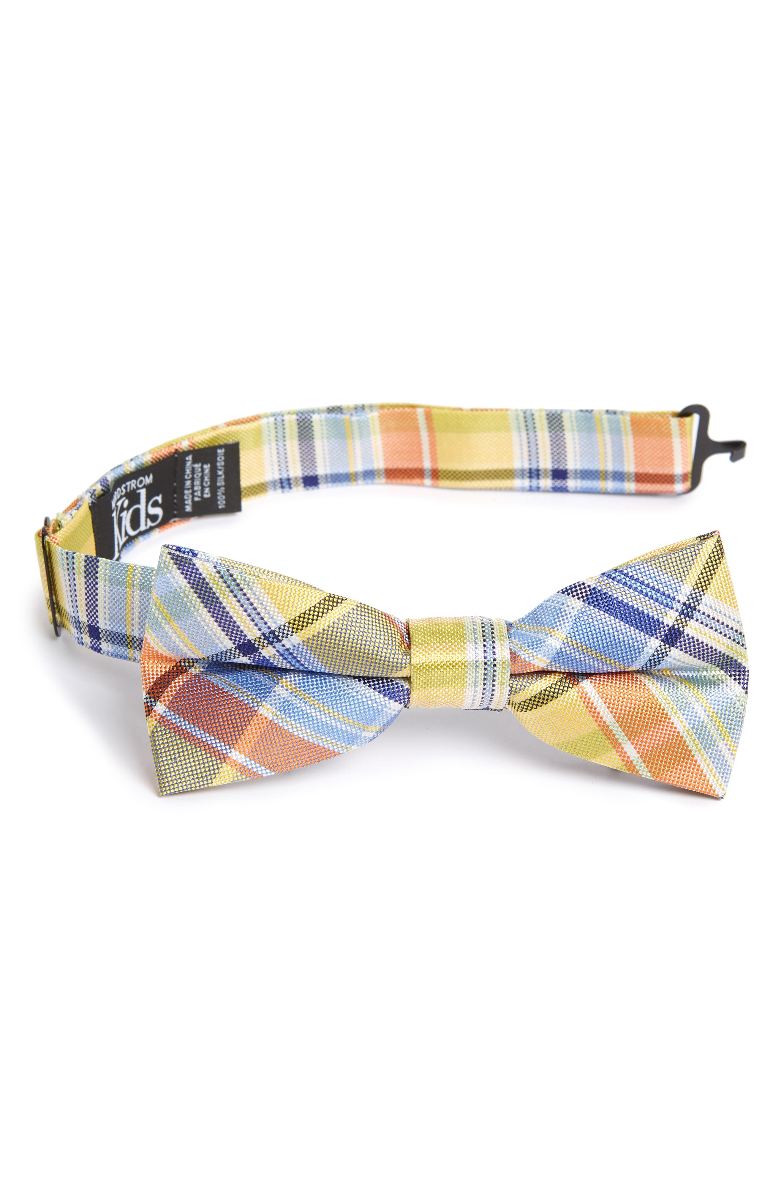Madras Plaid Bow Tie,                             Main thumbnail 1, color,                             455