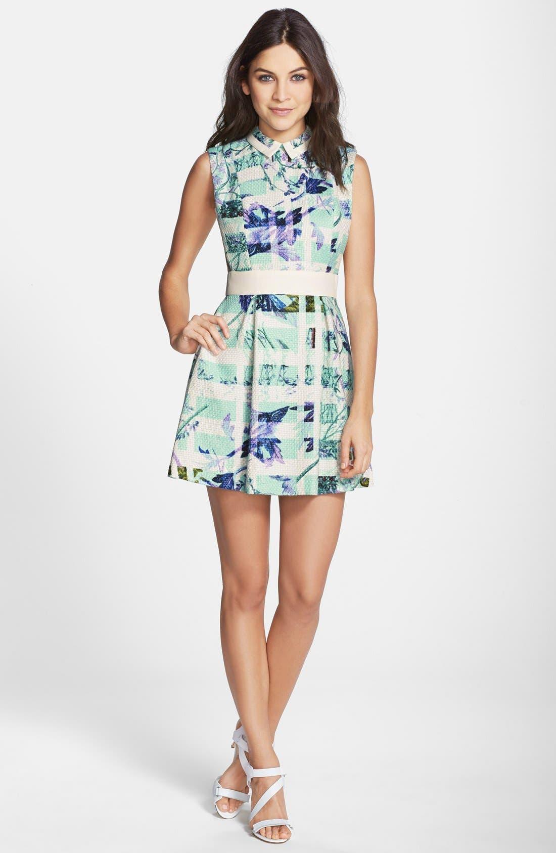 Alternate Image 3  - BCBGeneration Print Woven Fit & Flare Dress