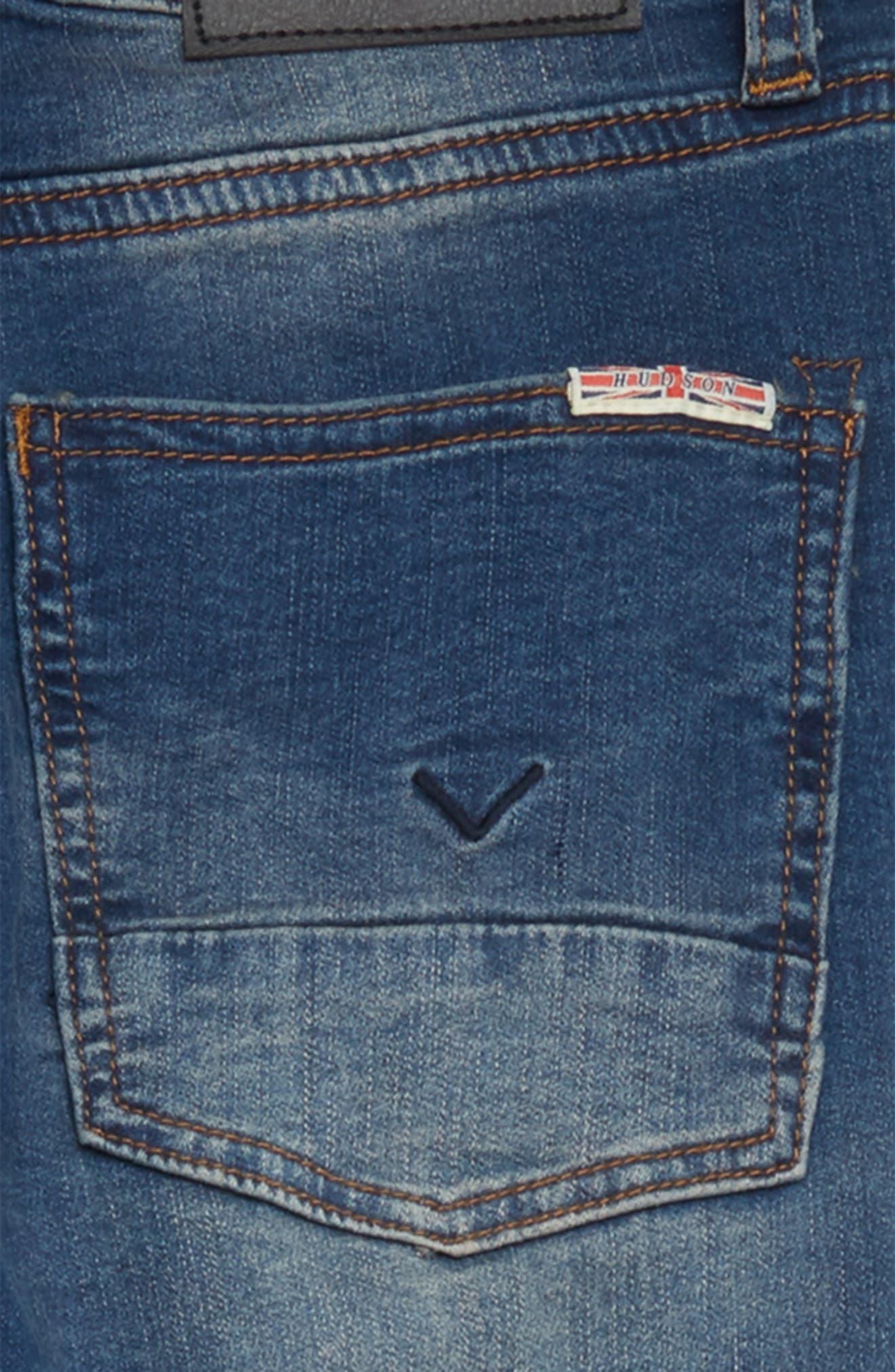 Jagger Slim Fit Straight Leg Jeans,                             Alternate thumbnail 3, color,                             Beaten Blue