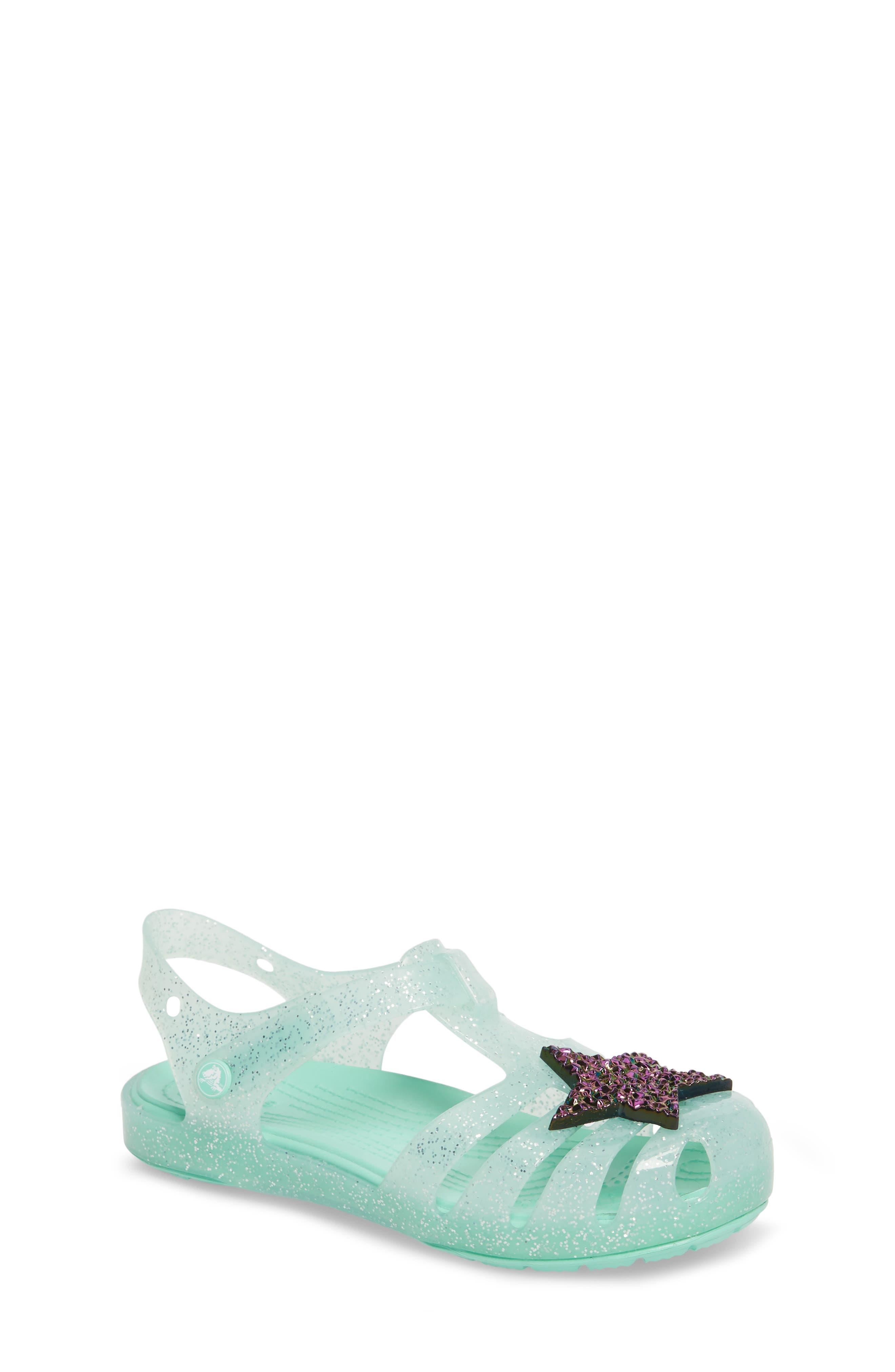 CROCS™ Isabella Glitter Fisherman Sandal (Baby, Walker, Toddler & Little Kid)