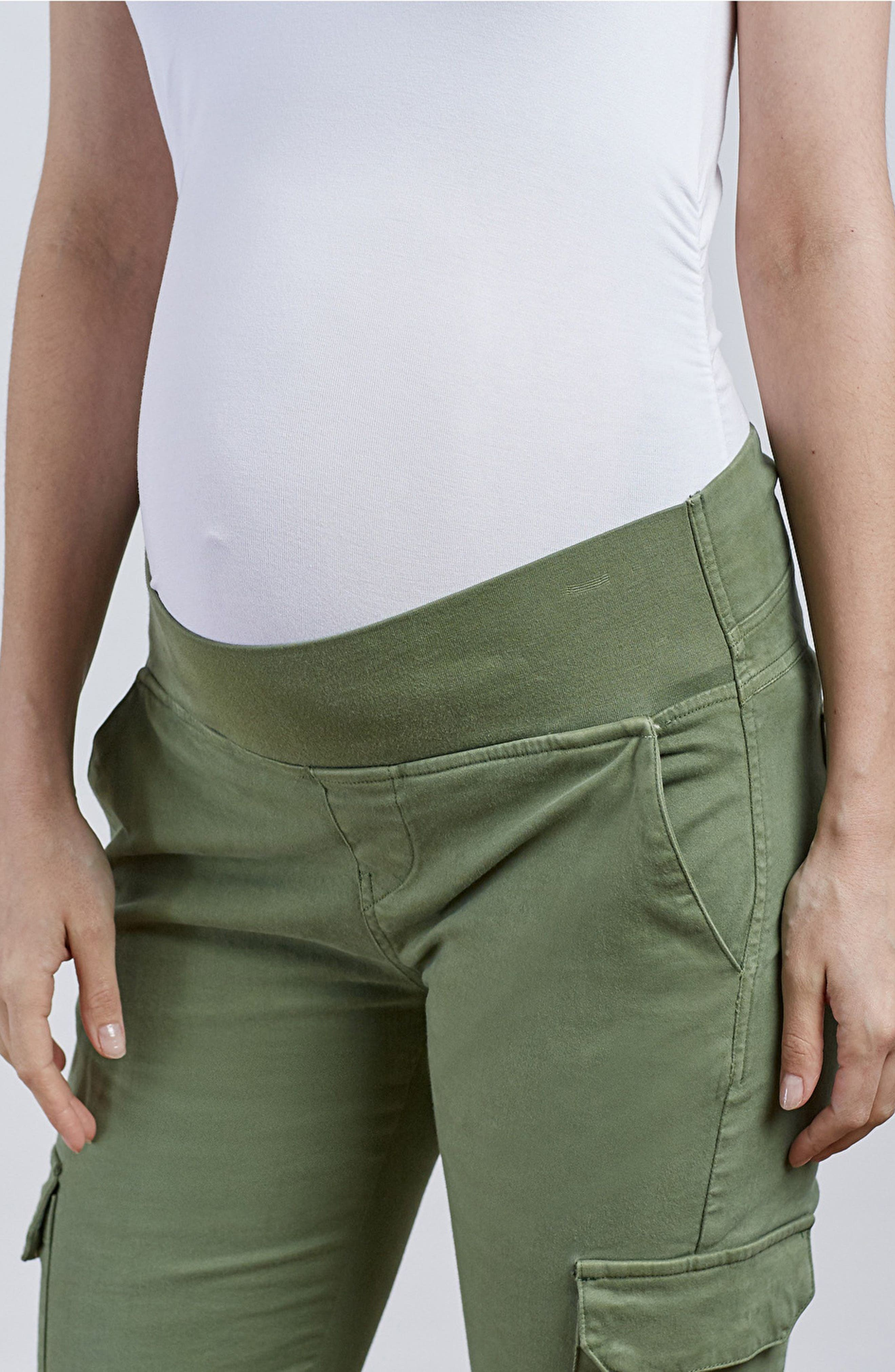 Maternity Cargo Pants,                             Alternate thumbnail 2, color,                             Dusted Khaki