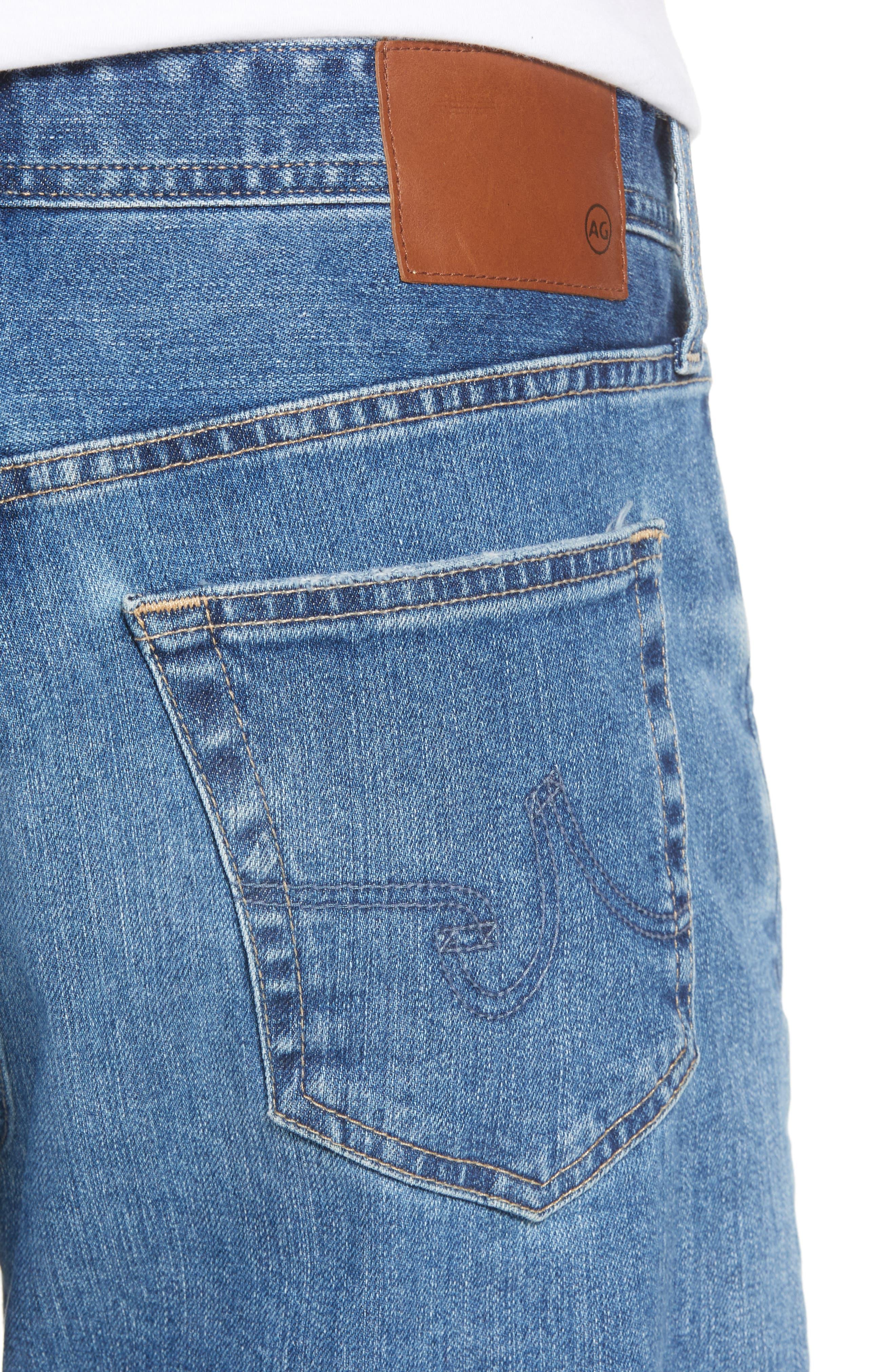 Everett Slim Straight Leg Jeans,                             Alternate thumbnail 4, color,                             15 Years Open Road