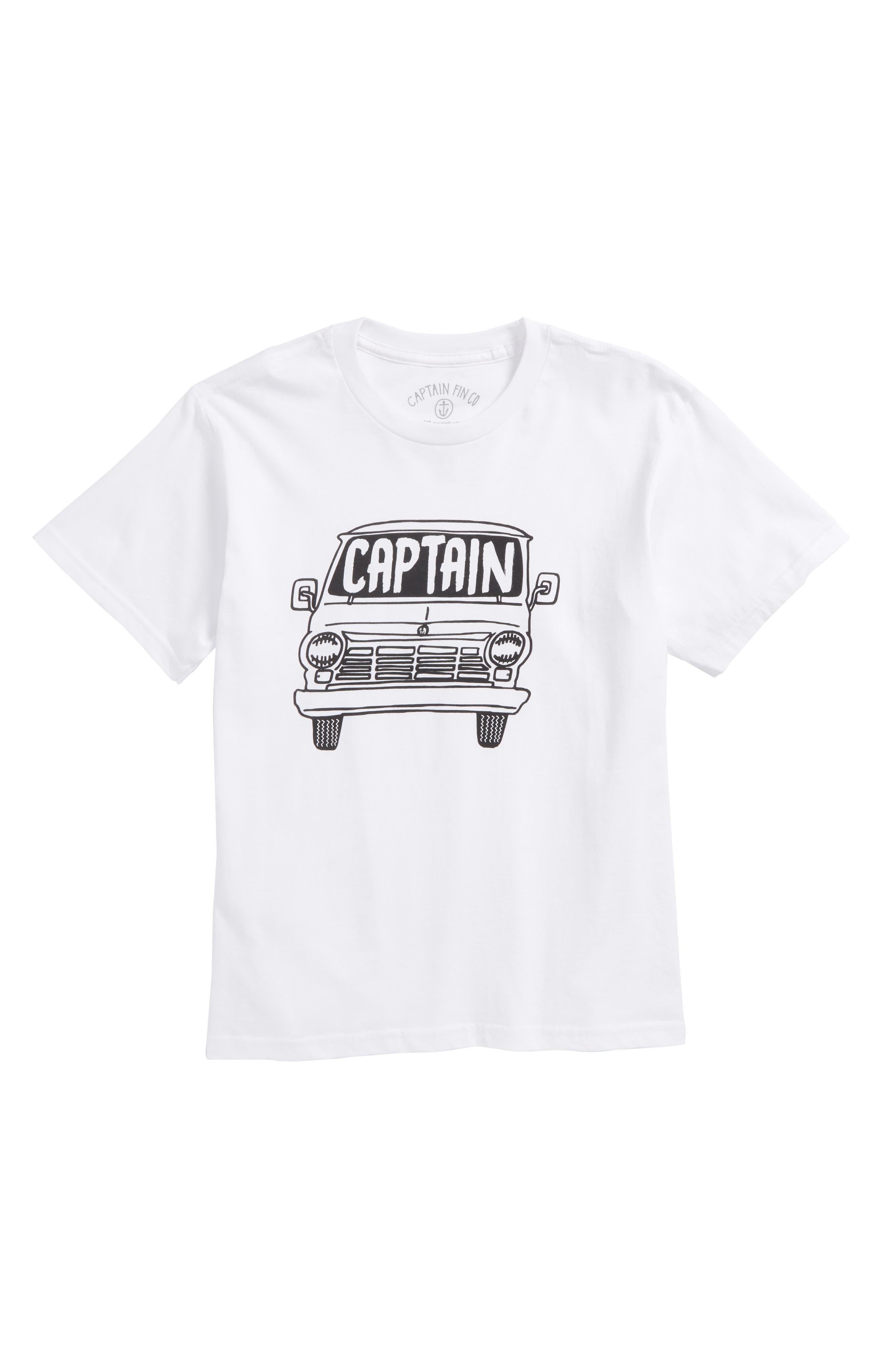 Captain Fin Van Graphic T-Shirt (Big Boys)