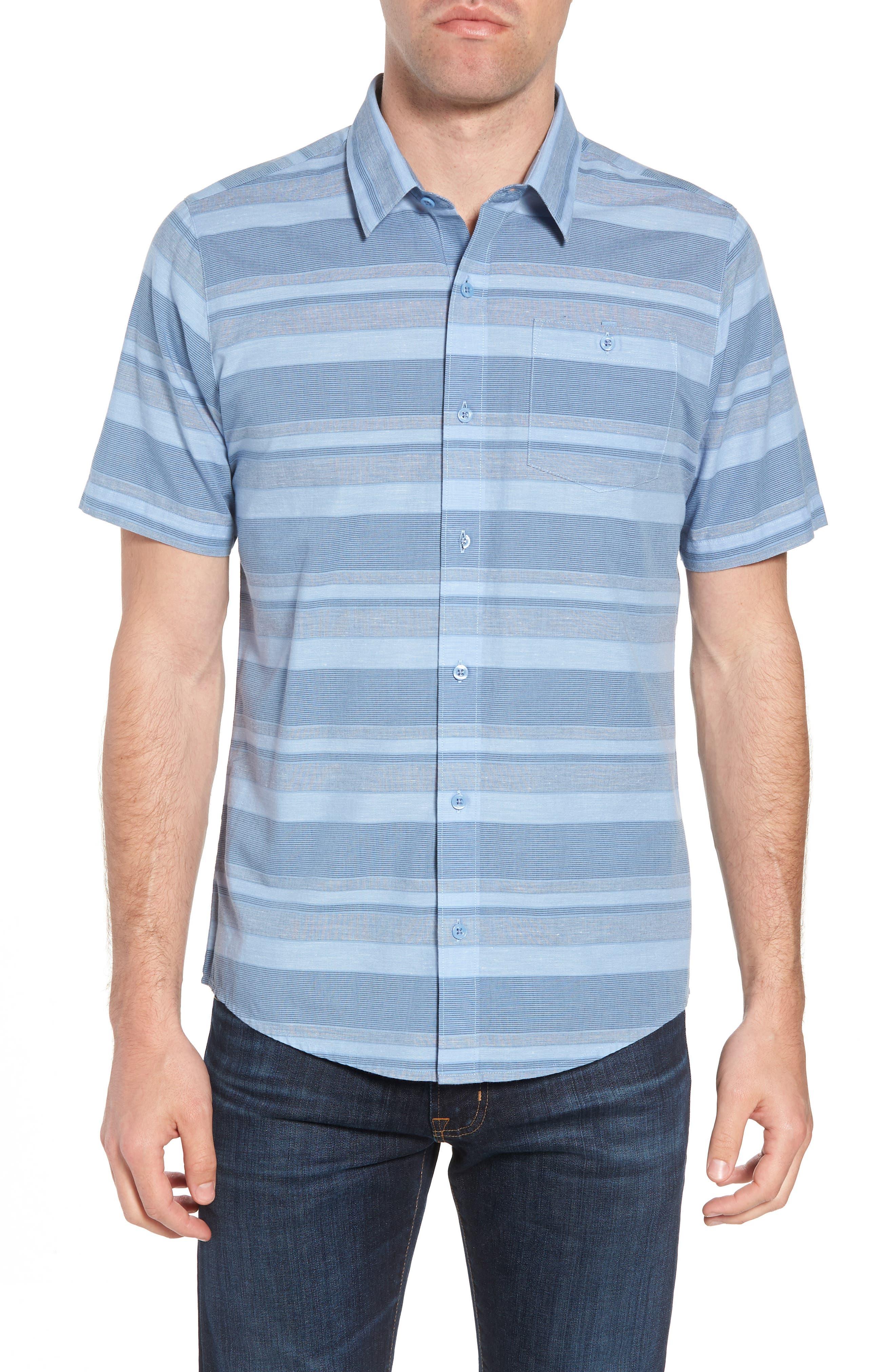 Mahe Regular Fit Sport Shirt,                         Main,                         color, Heather Blue Nights