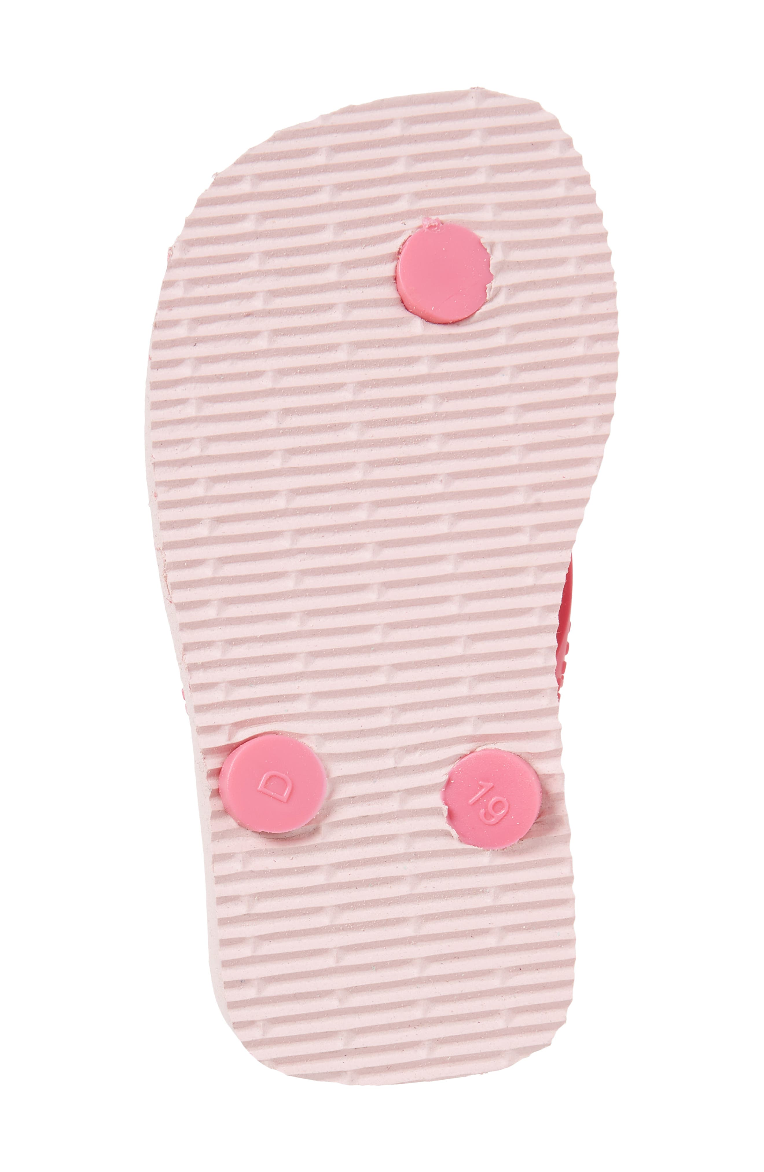 Baby Disney Classics Flip Flop,                             Alternate thumbnail 6, color,                             Pearl Pink