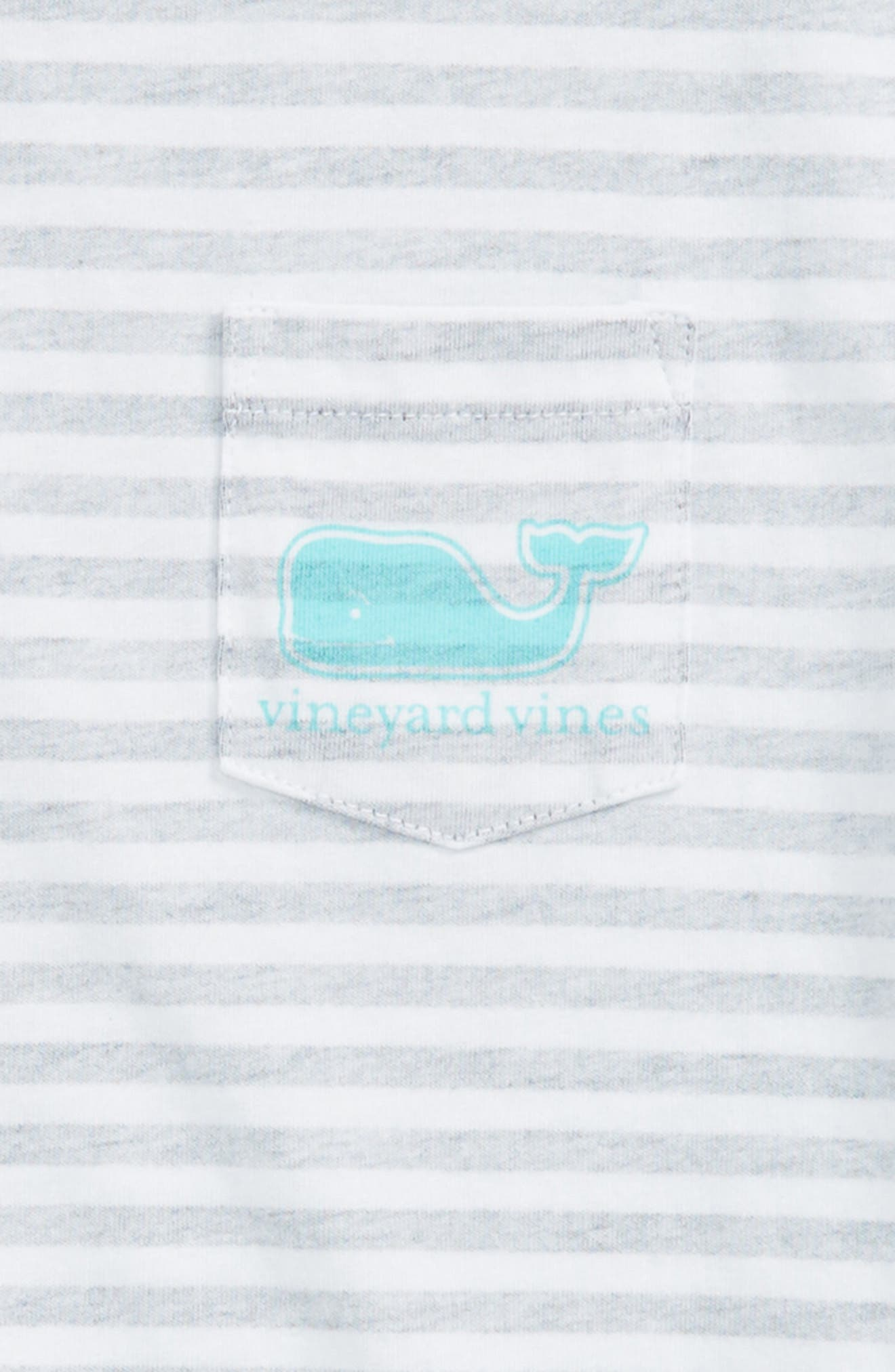 Stripe Whale Pocket Tee,                             Alternate thumbnail 3, color,                             Deep Bay
