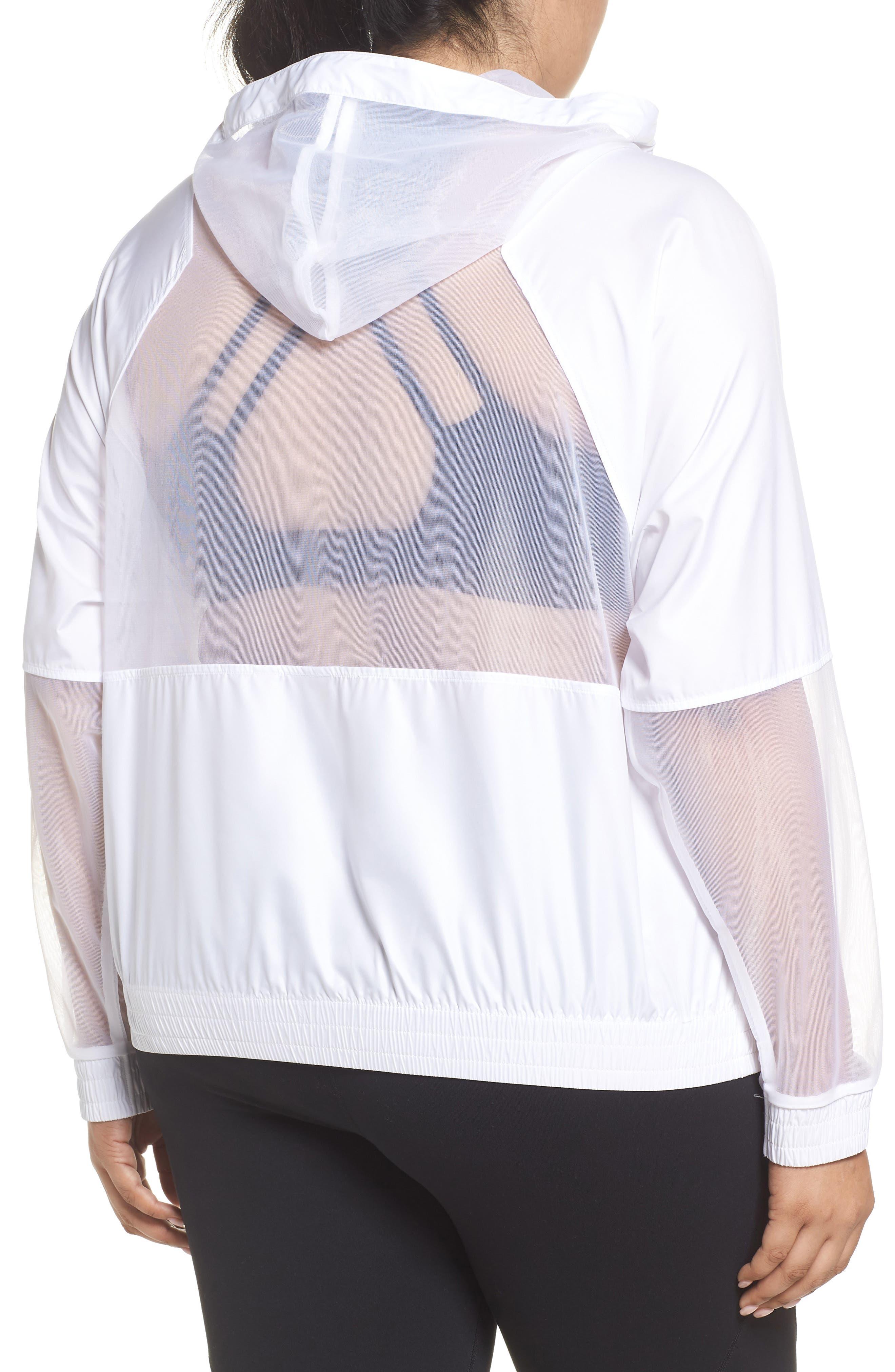 Sheer Mix Jacket,                             Alternate thumbnail 2, color,                             White