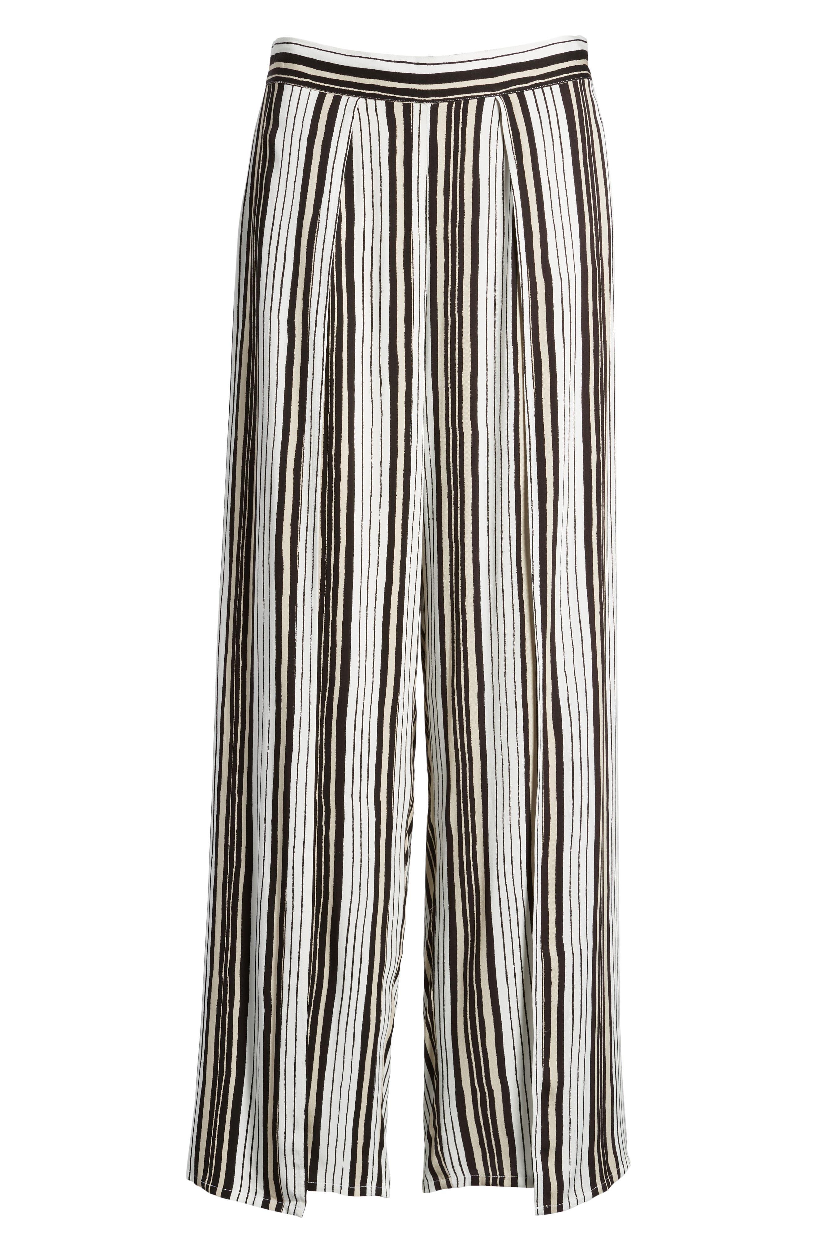 Avah Stripe Pants,                             Alternate thumbnail 6, color,                             Ivory