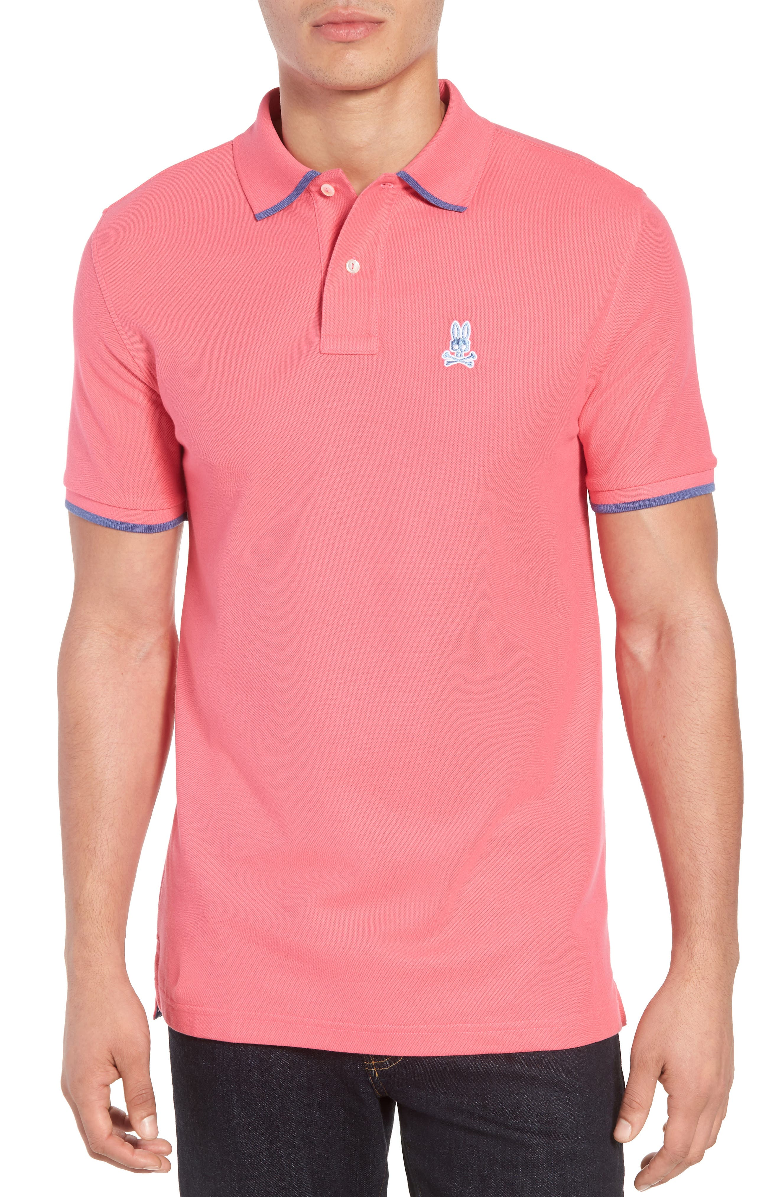 Sandford Polo,                         Main,                         color, Hot Pink