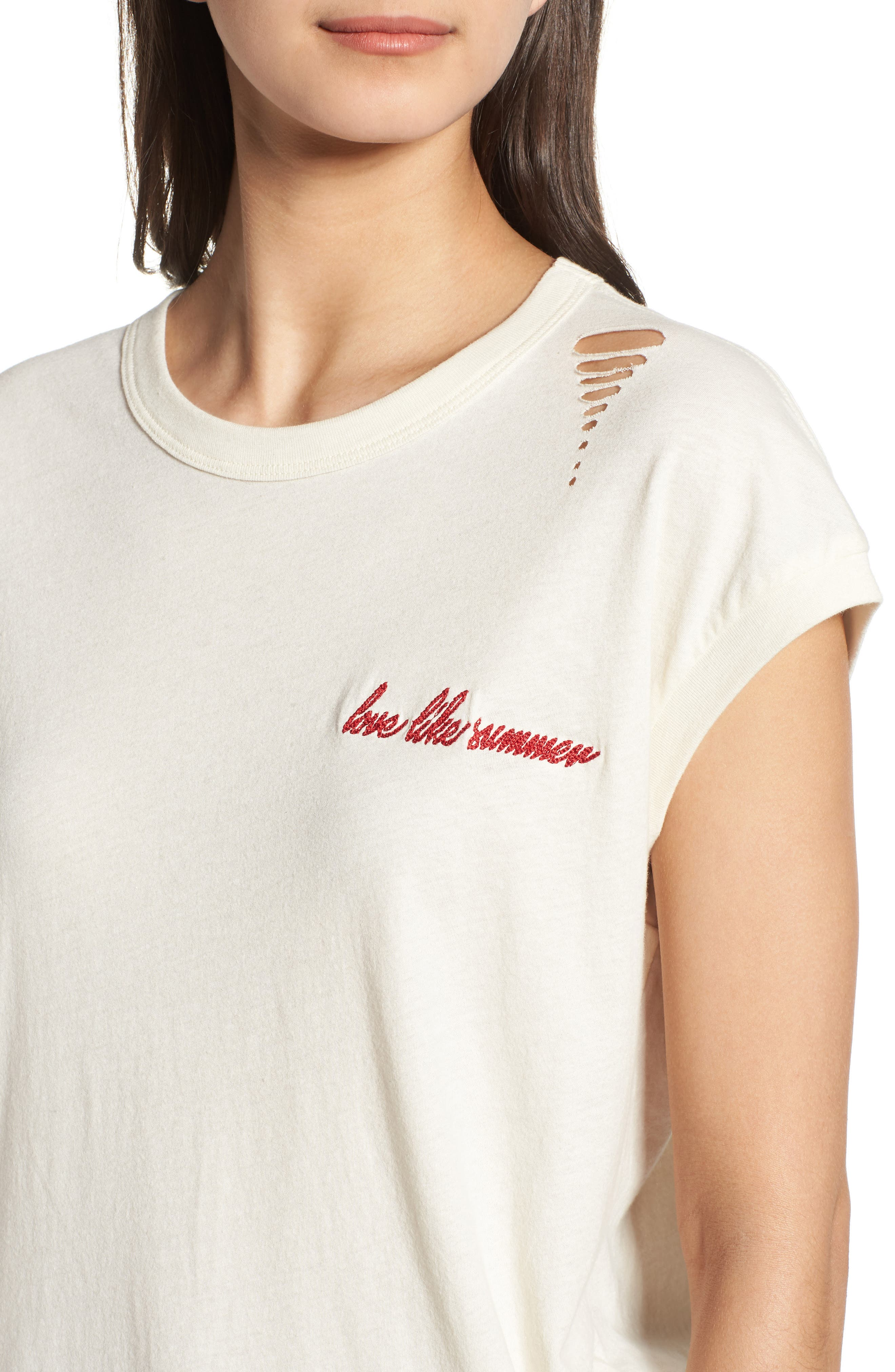 Vintage Muscle Tee,                             Alternate thumbnail 4, color,                             Cream