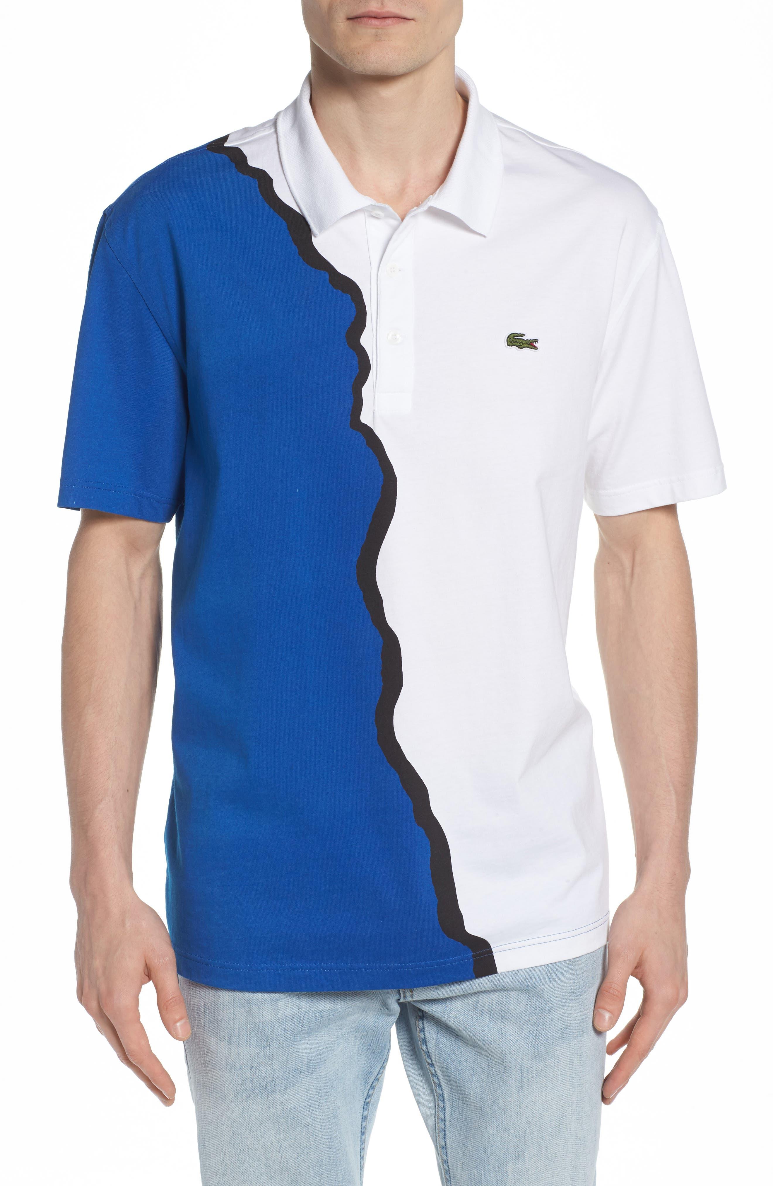 85th Anniversary Graphic Jersey Polo,                         Main,                         color, White/ Electric-Black