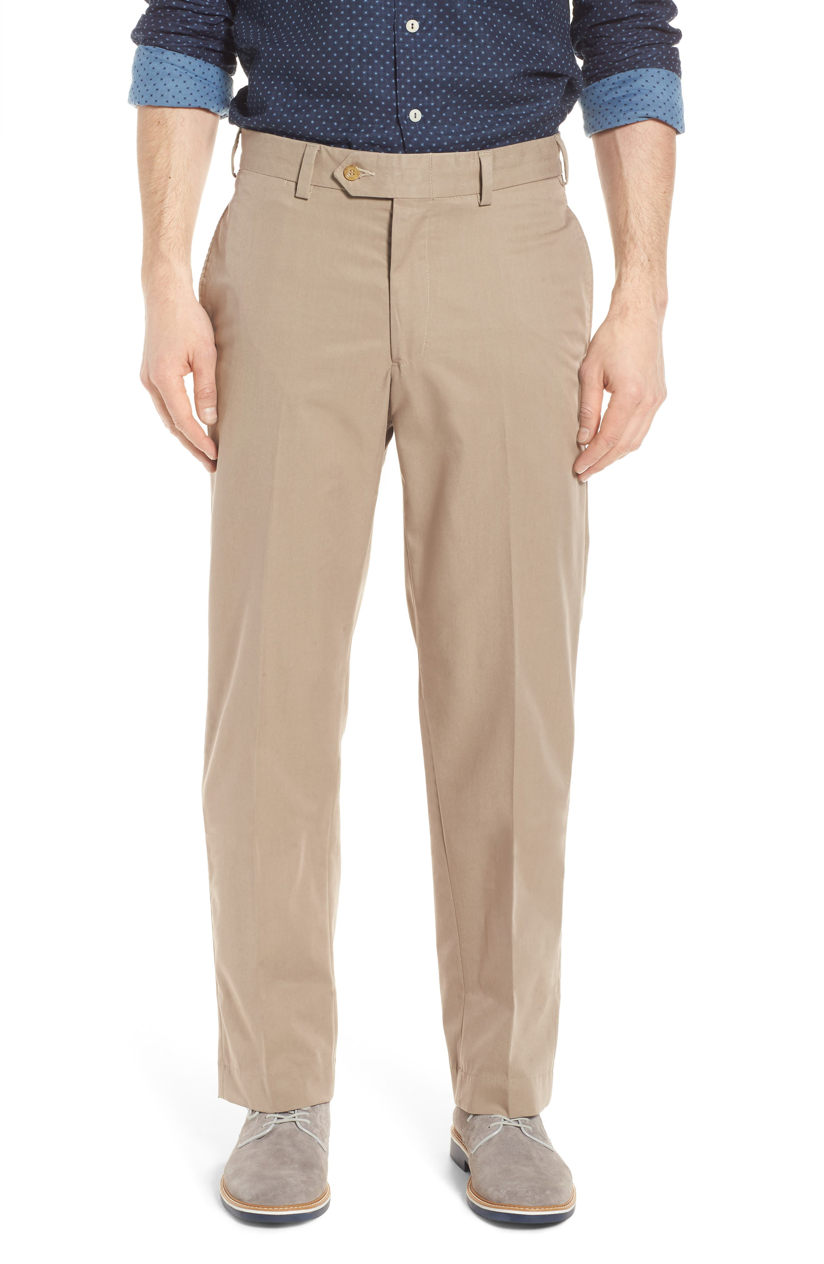 Bills Khakis M2 Classic Fit Flat Front Travel Twill Pants
