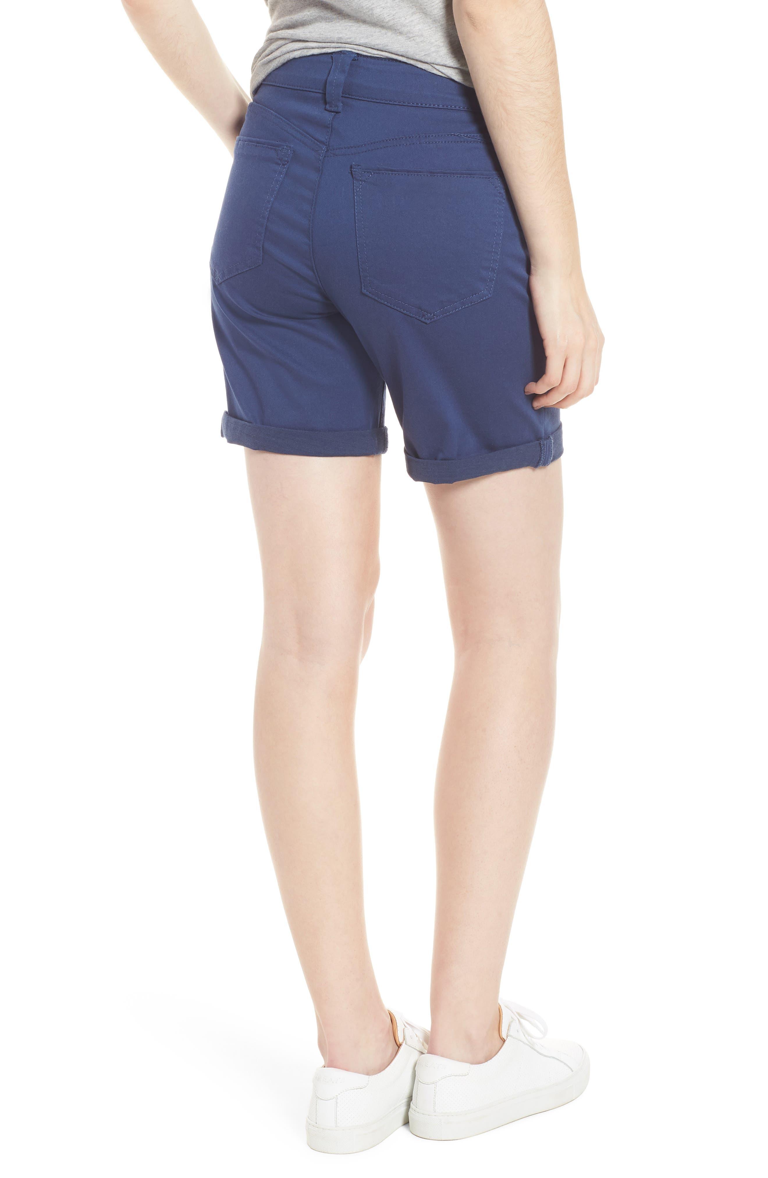Ab-Solution Stretch Cotton Shorts,                             Alternate thumbnail 2, color,                             Coastal Blue