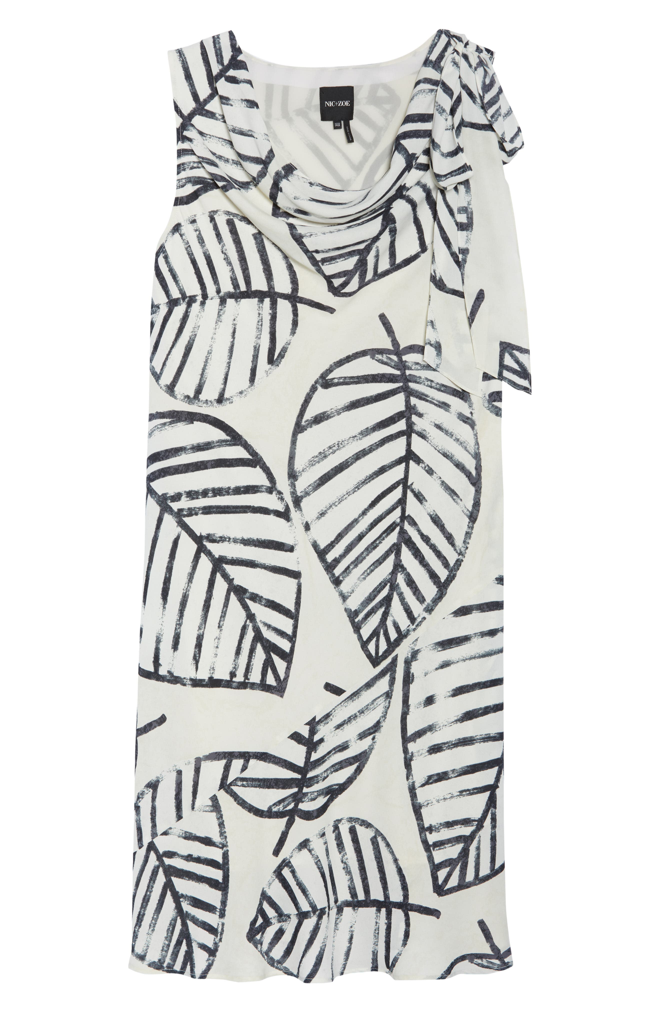 Alternate Image 5  - NIC+ZOE Etched Leaves Tie Dress (Plus Size)