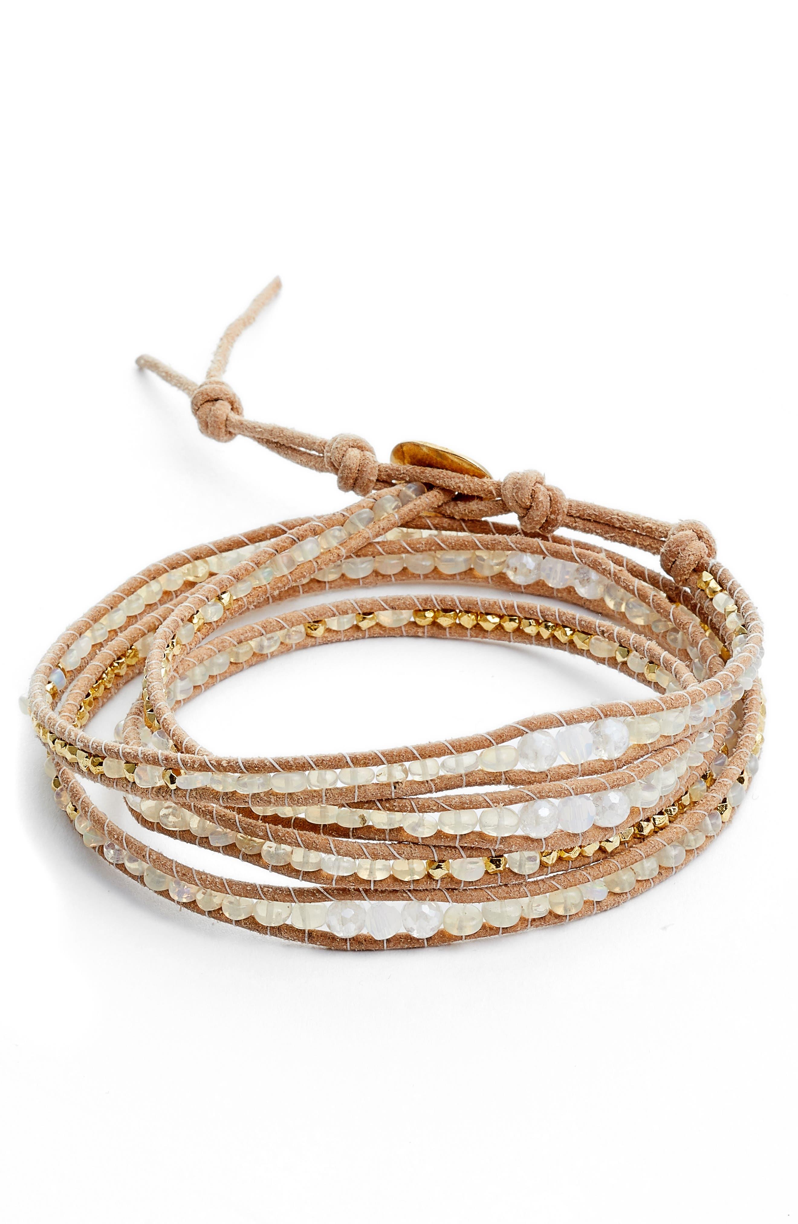Mystic Clear Quartz Mix Wrap Bracelet,                         Main,                         color, Mystic Clear Mix