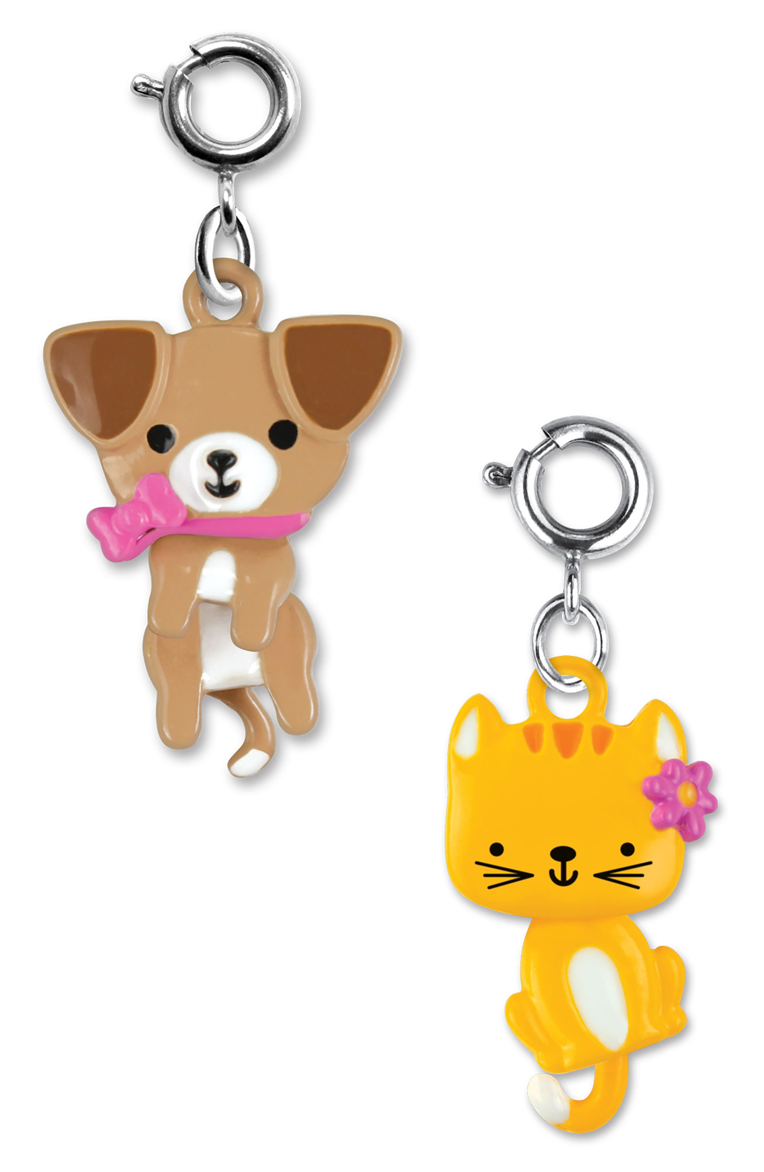 CHARM IT!<sup>®</sup> 2-Pack Swivel Kitty & Puppy Charms,                             Main thumbnail 1, color,                             Multi