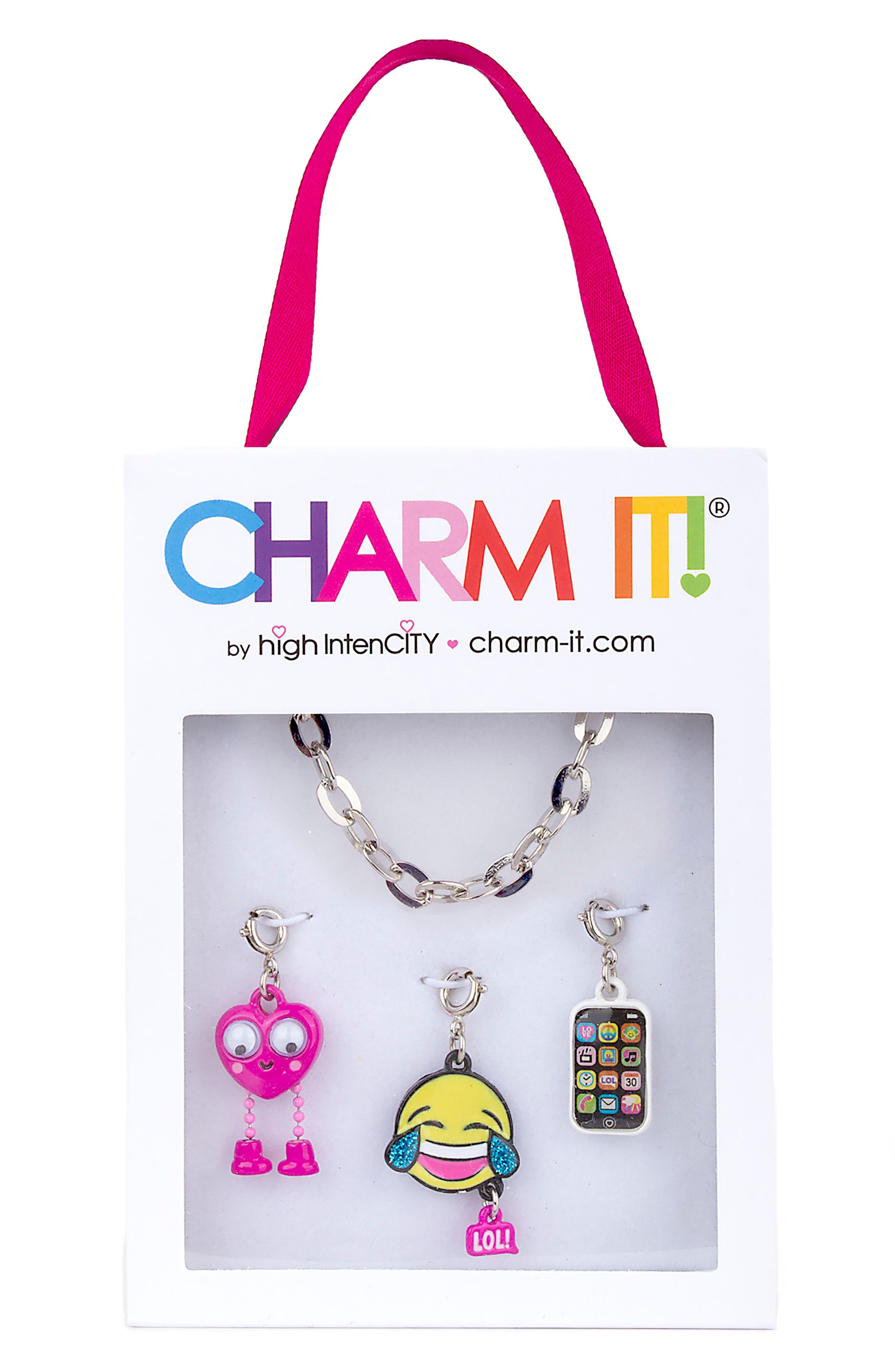 CHARM IT!<sup>®</sup> Emoji Charm Bracelet Gift Set,                             Alternate thumbnail 2, color,                             Multi