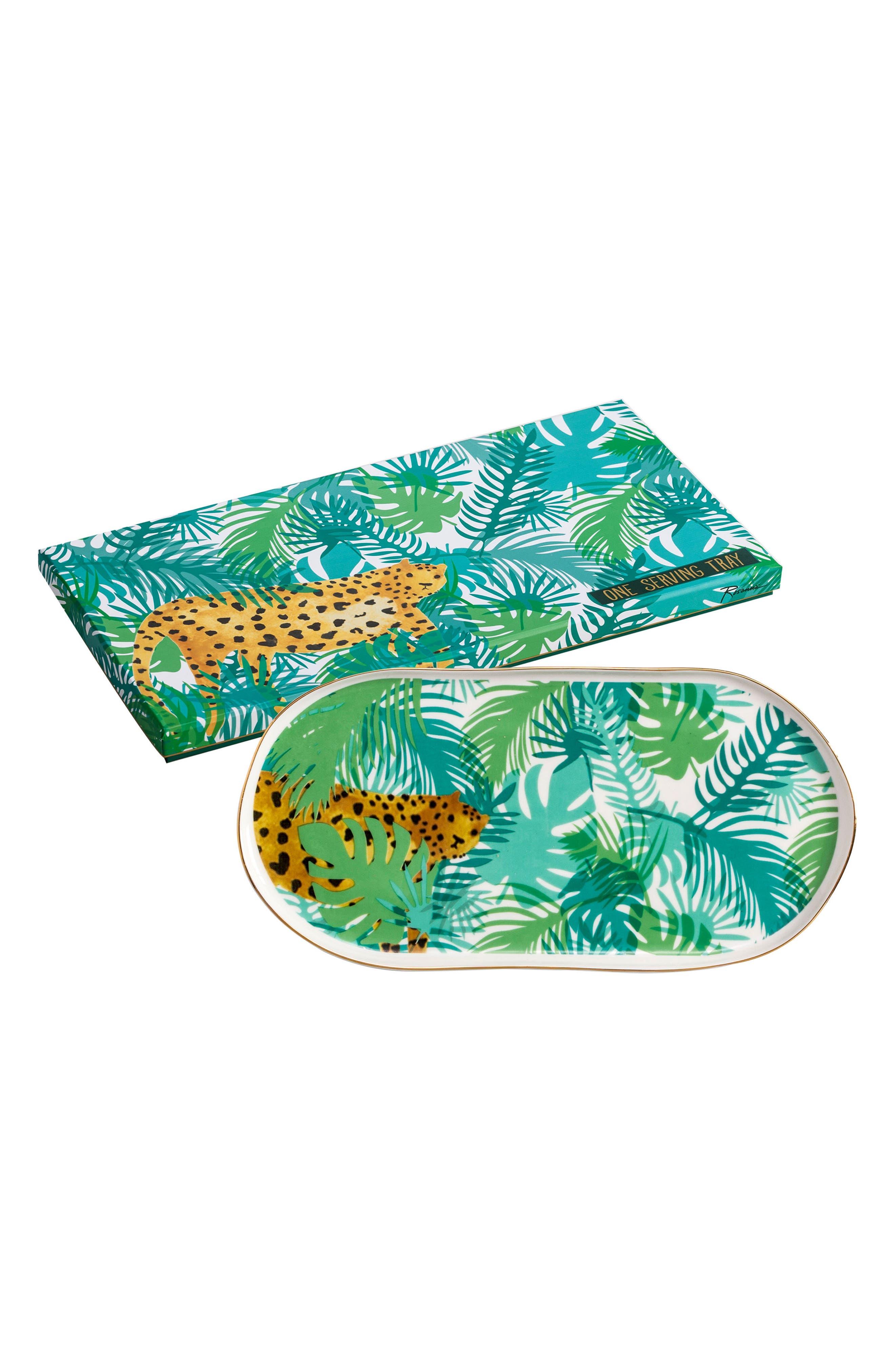Be Wild Cheetah Tray,                         Main,                         color, Green Multi