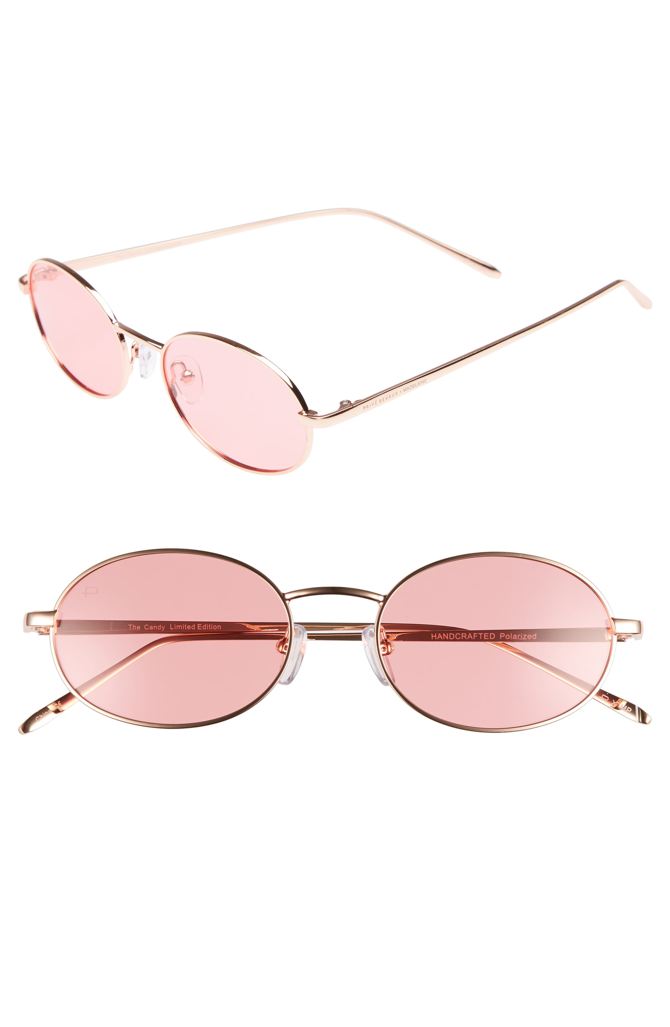 Privé Revaux x Madelaine Petsch The Candy 50mm Round Sunglasses