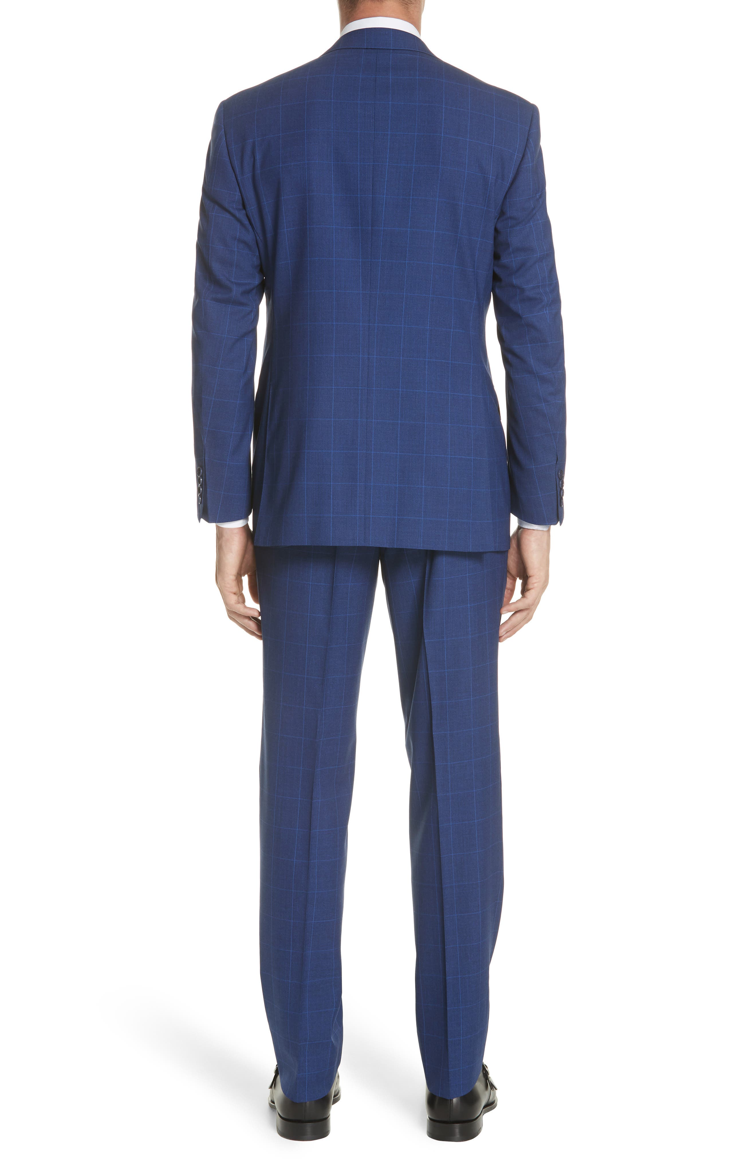 Classic Fit Windowpane Wool Suit,                             Alternate thumbnail 2, color,                             Blue