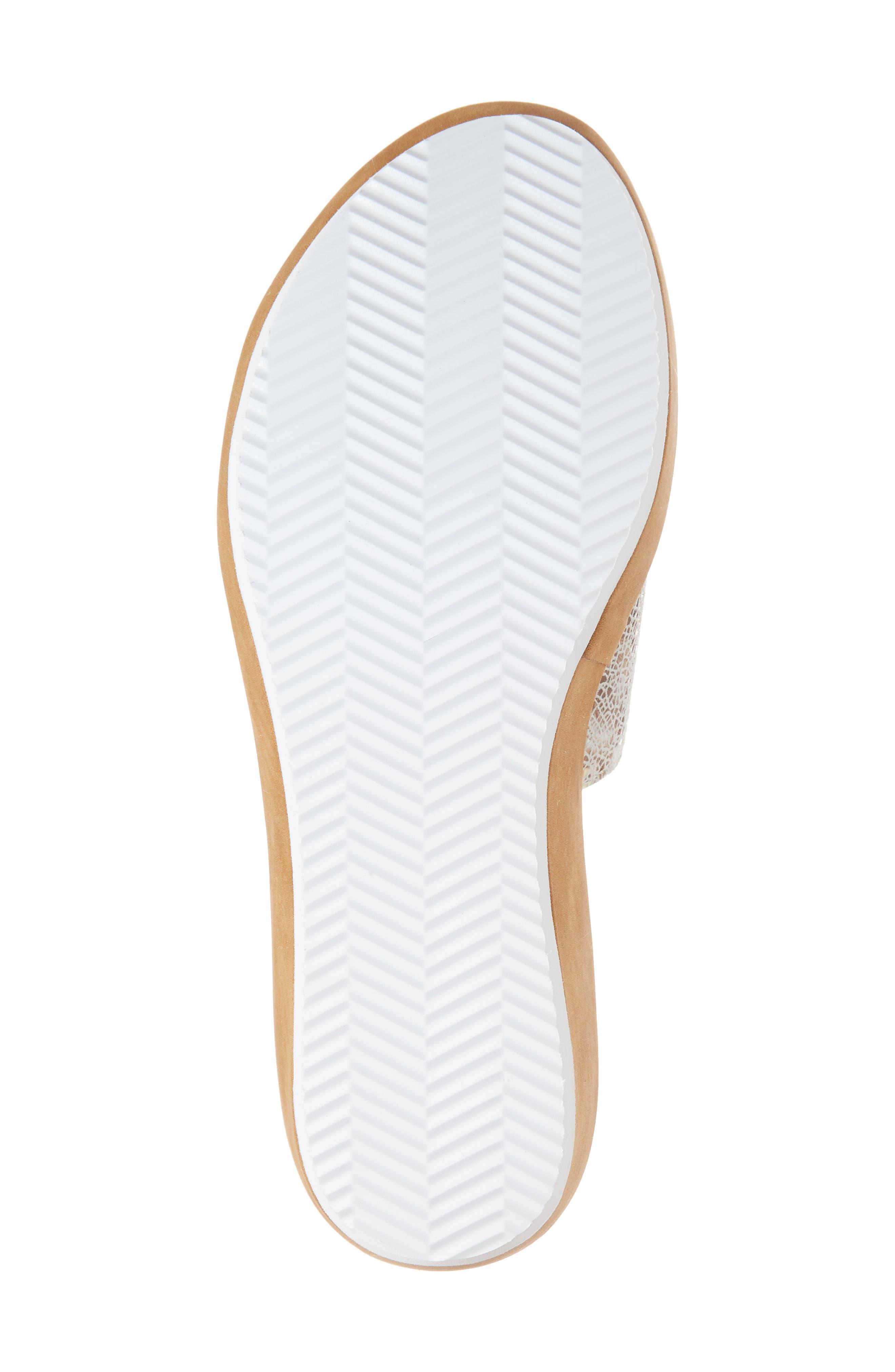 Tania Platform Wedge Slide Sandal,                             Alternate thumbnail 6, color,                             Taupe Leather