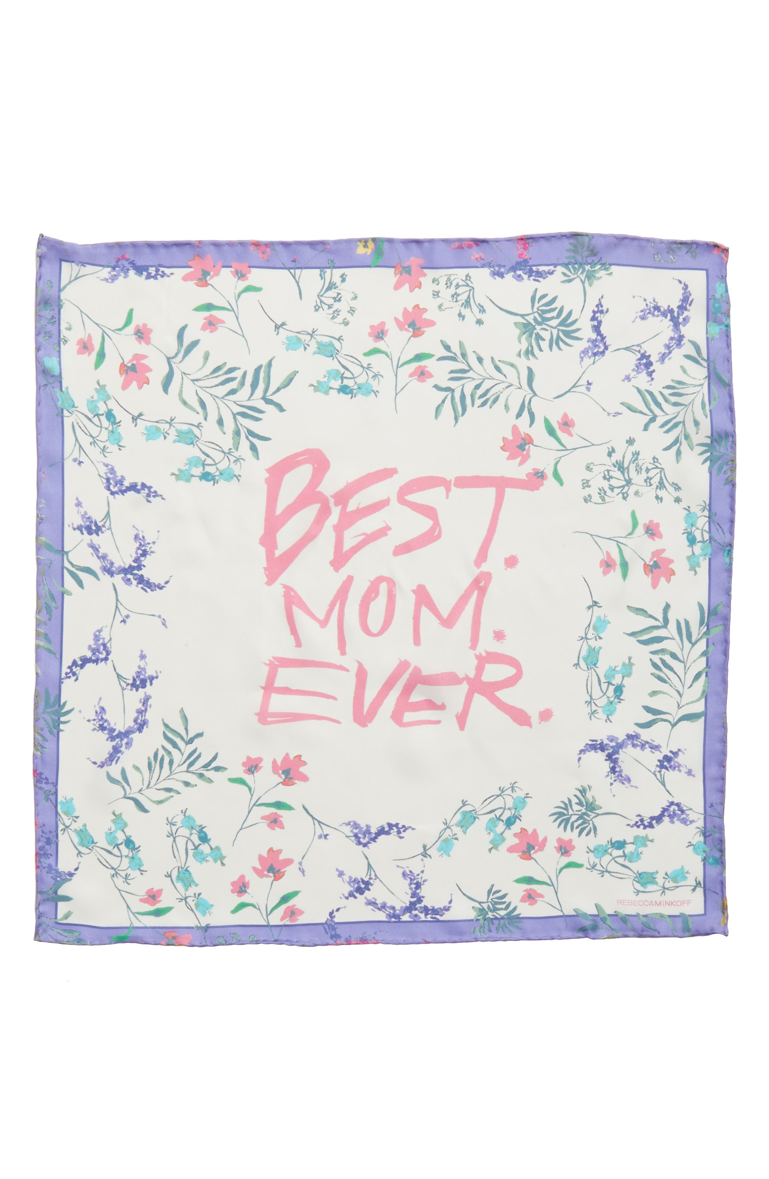 Mothers Day Silk Bandana,                             Alternate thumbnail 2, color,                             White
