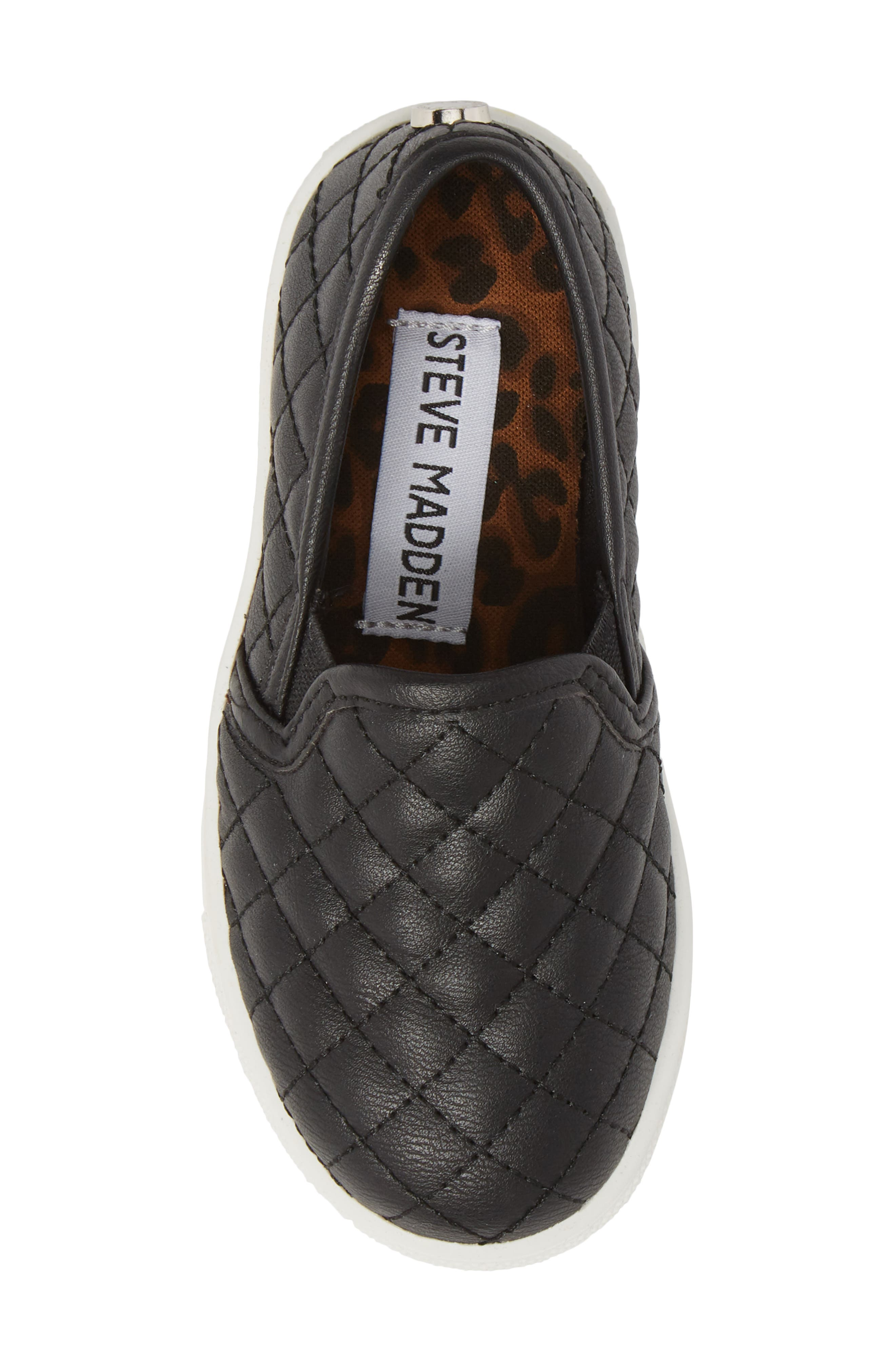 Tecntrc Quilted Slip-On Sneaker,                             Alternate thumbnail 5, color,                             Black