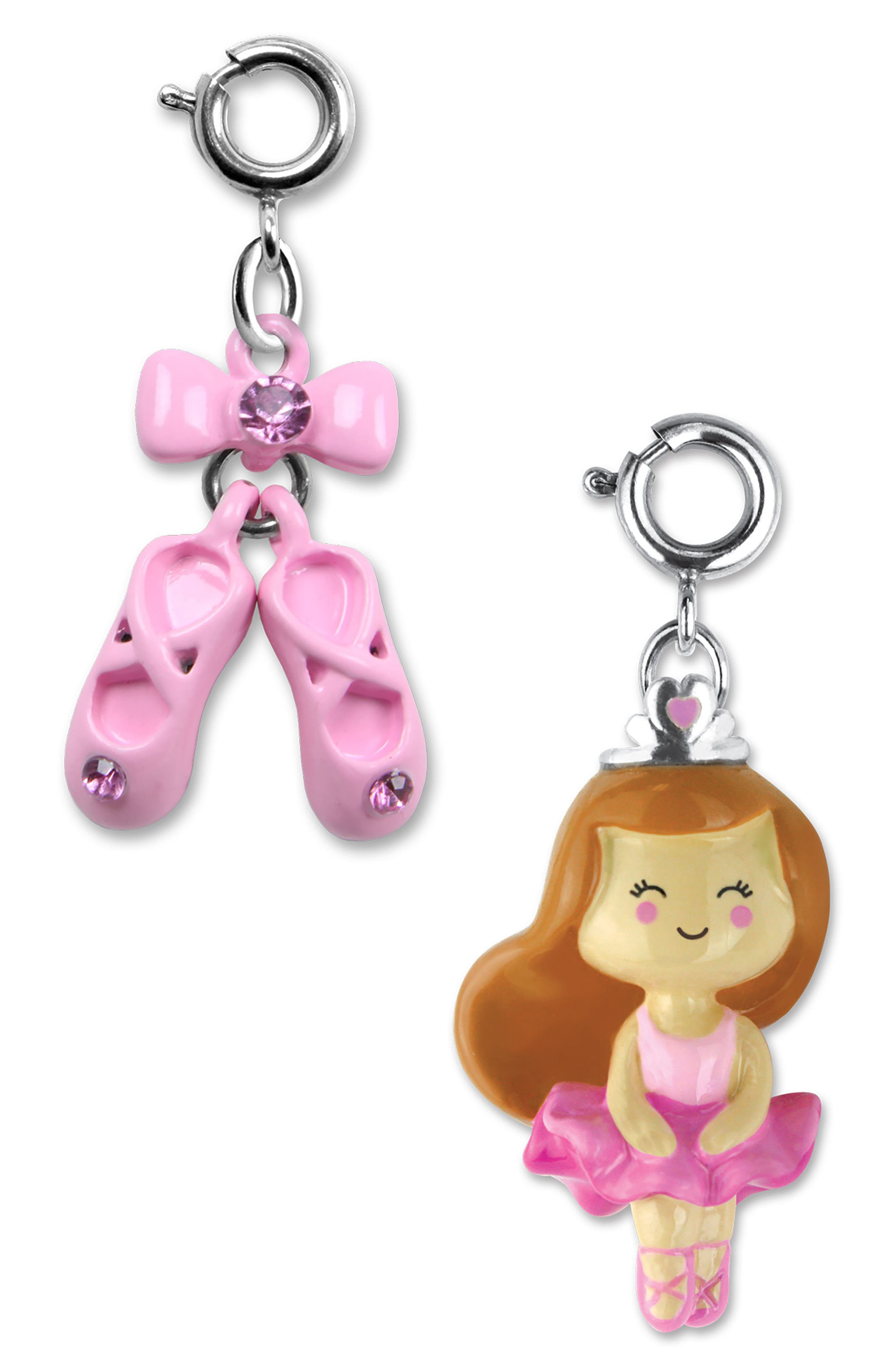 CHARM IT!<sup>®</sup> 2-Pack Ballerina & Ballet Slipper Charms,                             Main thumbnail 1, color,                             Multi