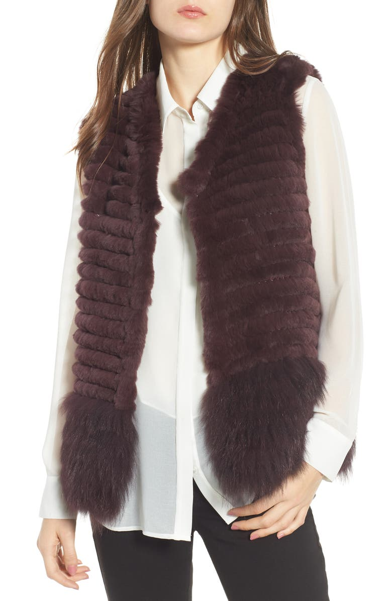 Genuine Rabbit  Fox Fur Vest