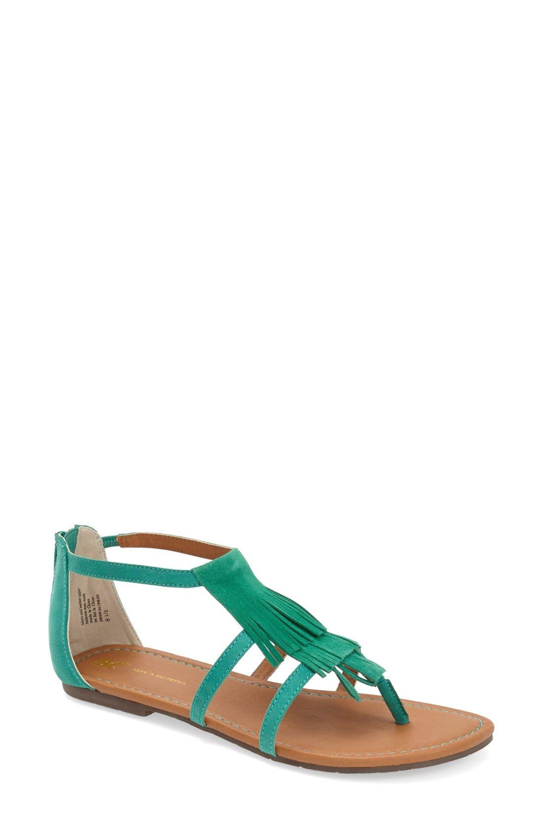 Alternate Image 1 Selected - BC Footwear 'Maltese' Fringe Sandal (Women)