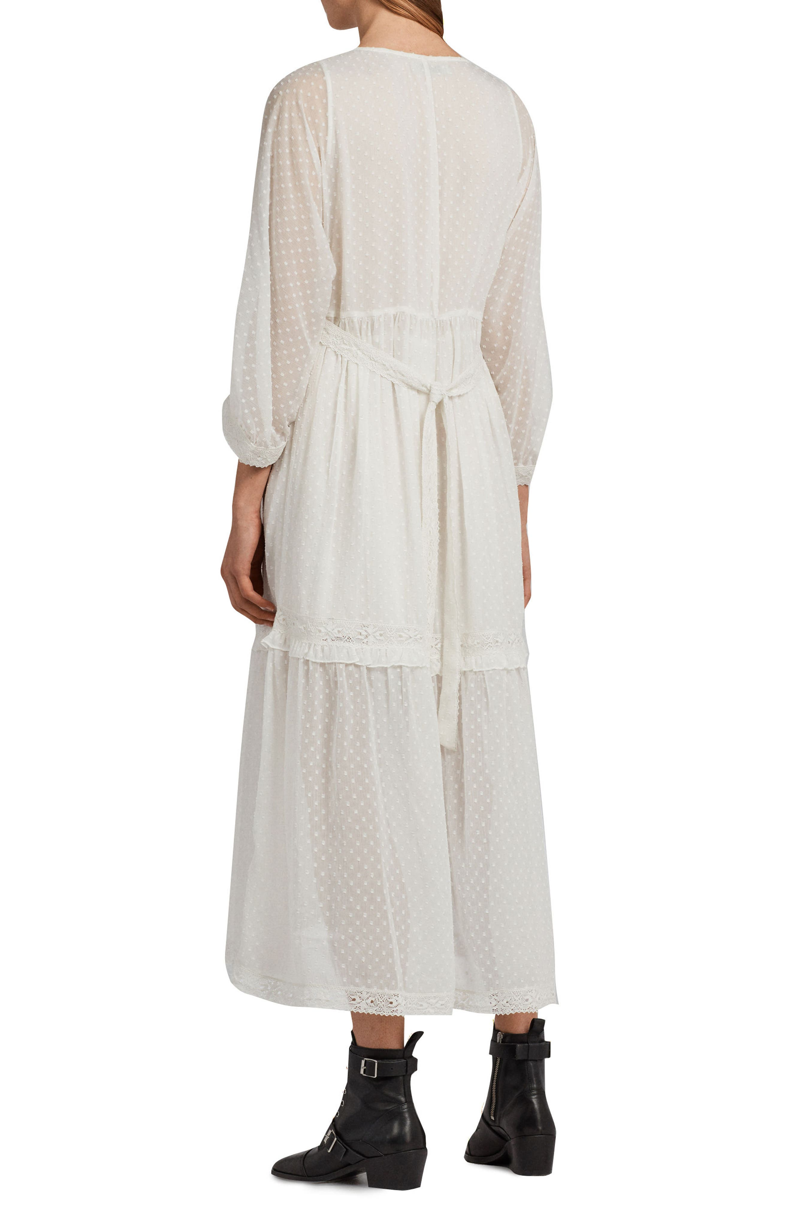 Palma Polka Dot Dress,                             Alternate thumbnail 2, color,                             Chalk White