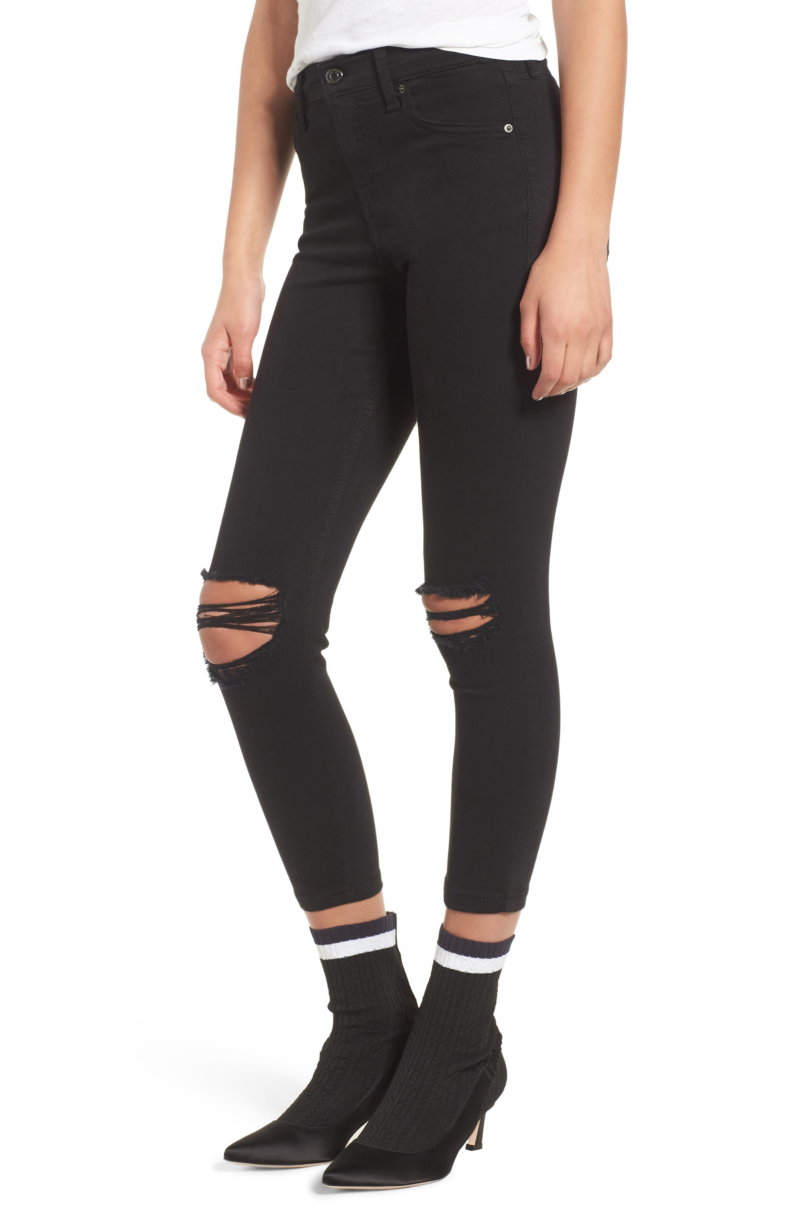 Jamie Ripped Jeans,                         Main,                         color, Black