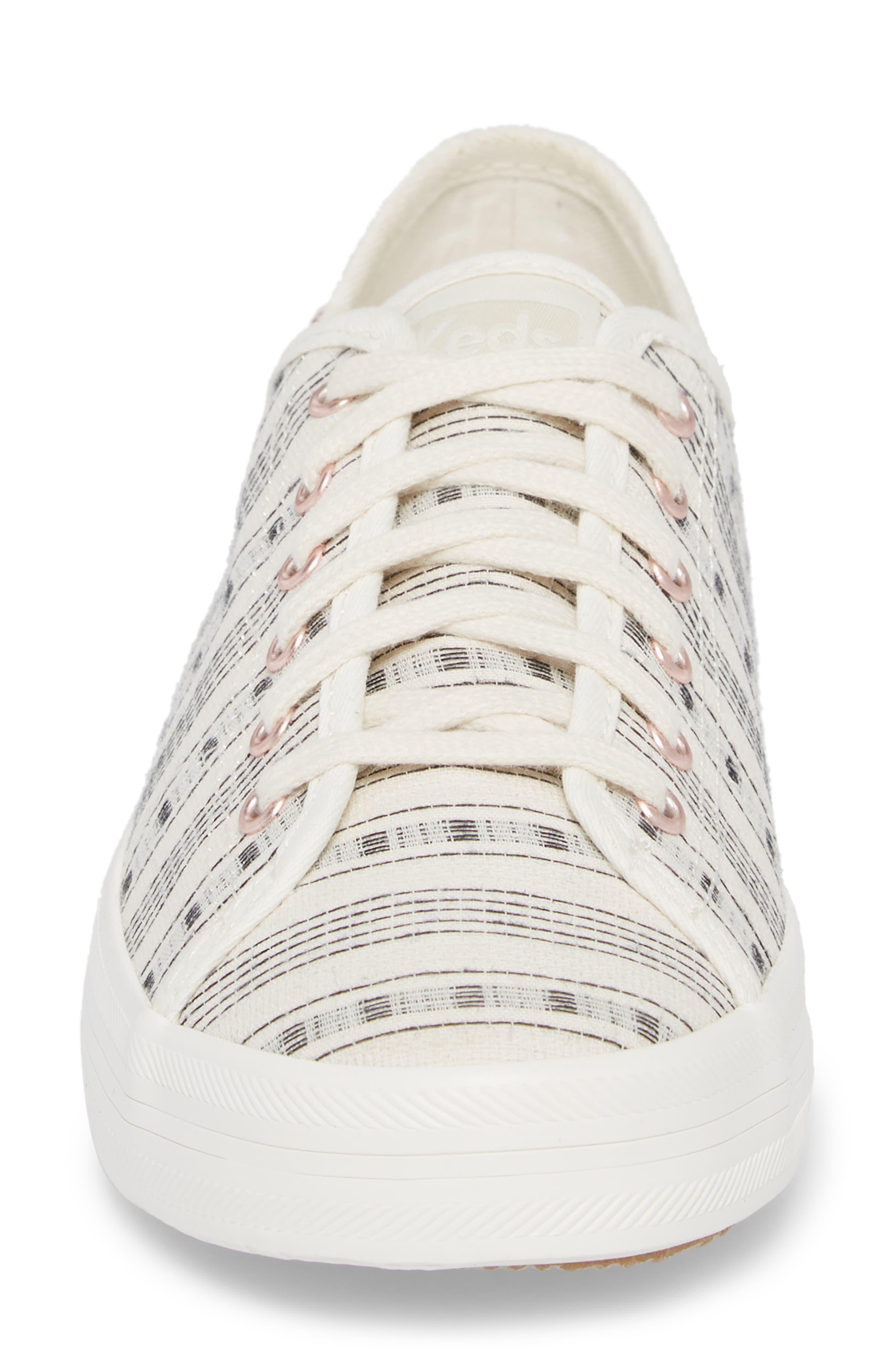 Kickstart Summer Stripe Sneaker,                             Alternate thumbnail 4, color,                             Cream