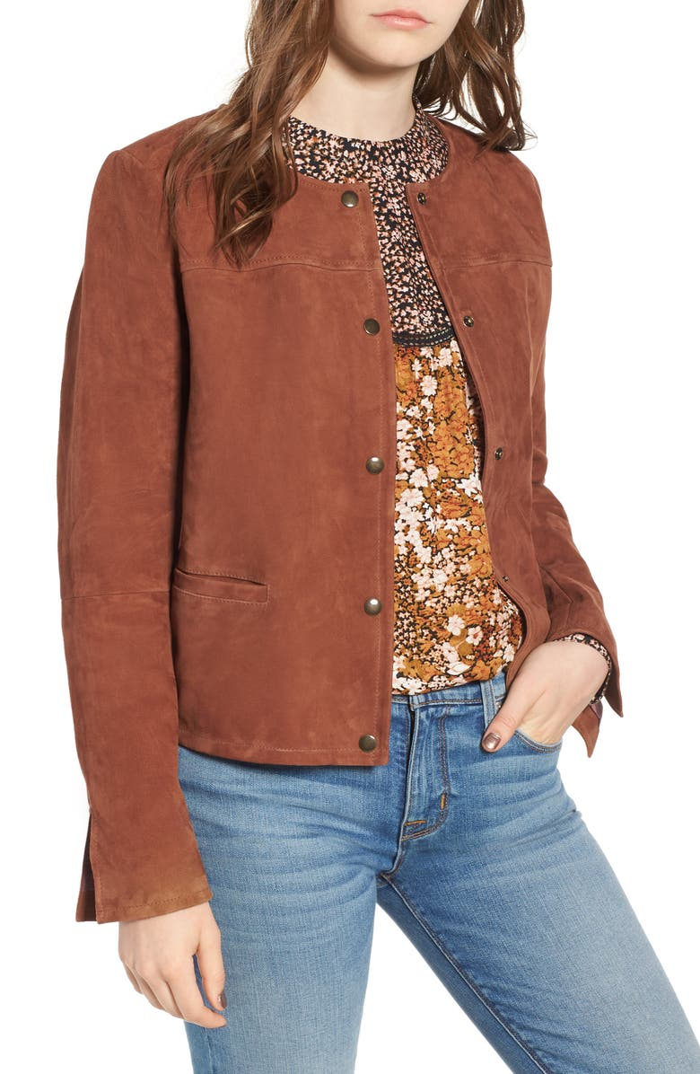 Feminine Suede Jacket