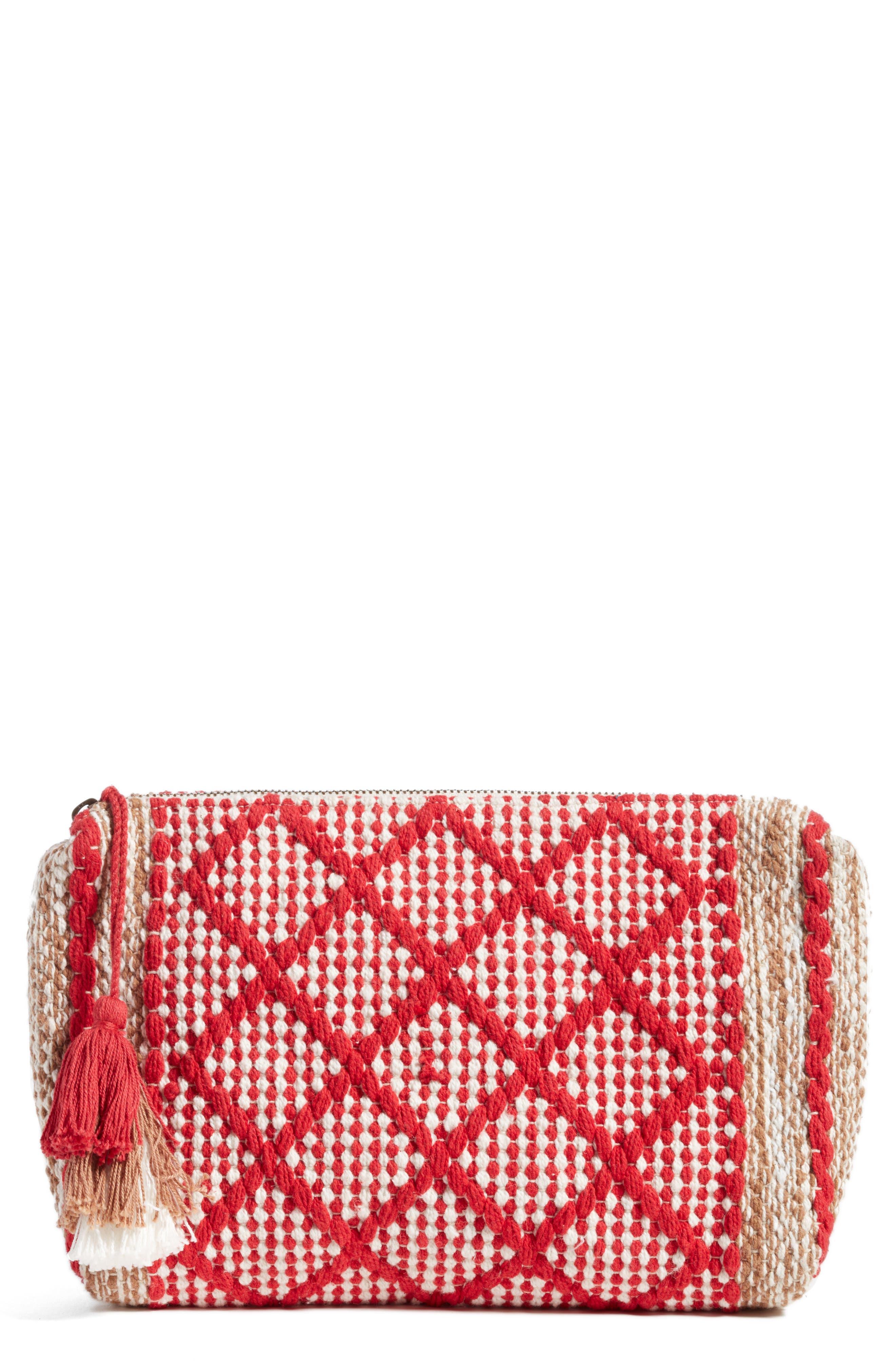 Bag of Tricks Clutch,                         Main,                         color, Rebel Red